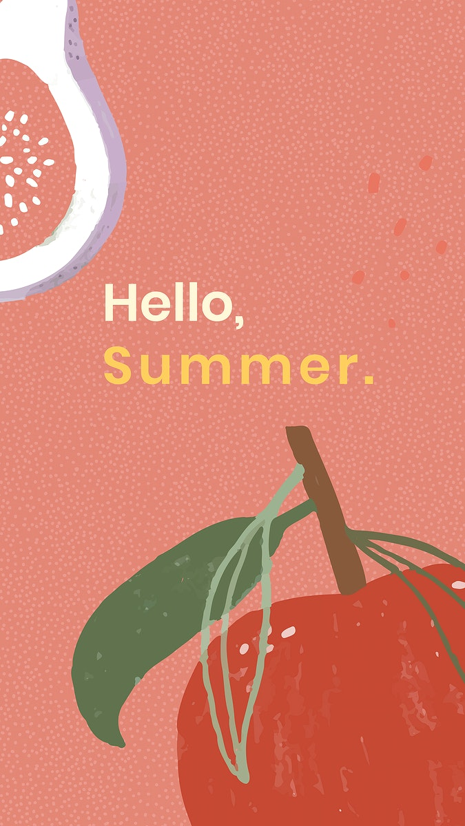 Hello fruity summer template design resource vector
