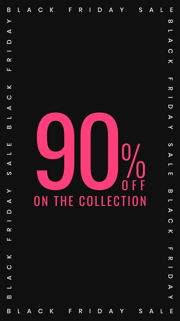 Pink 90 Off Vector Sale Advertisement Poster Template Royalty Free Vector 2703734