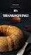 Thanksgiving fruitcake psd template for social media story