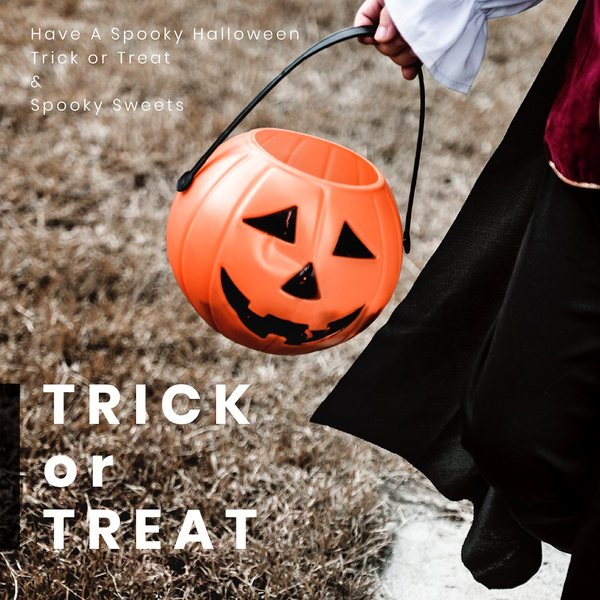 Halloween greeting psd template for social media post