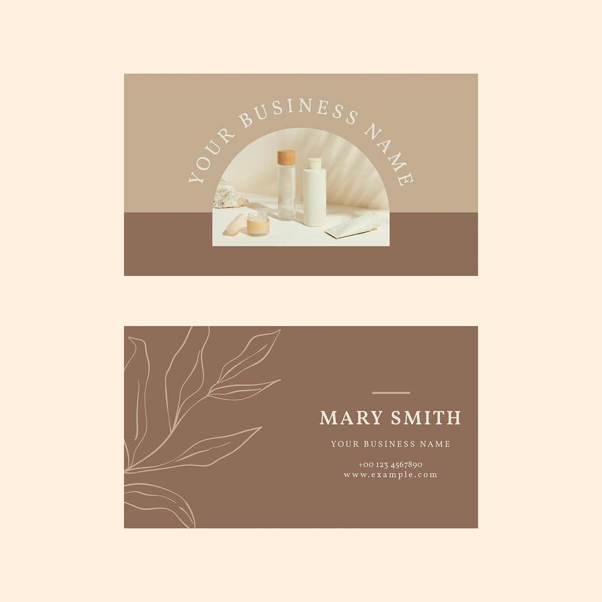 Cosmetic business card template psd