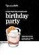 Gentleman birthday invitation template vector with cocktail illustration