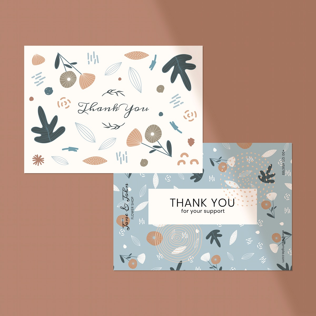 Thank you card design vector