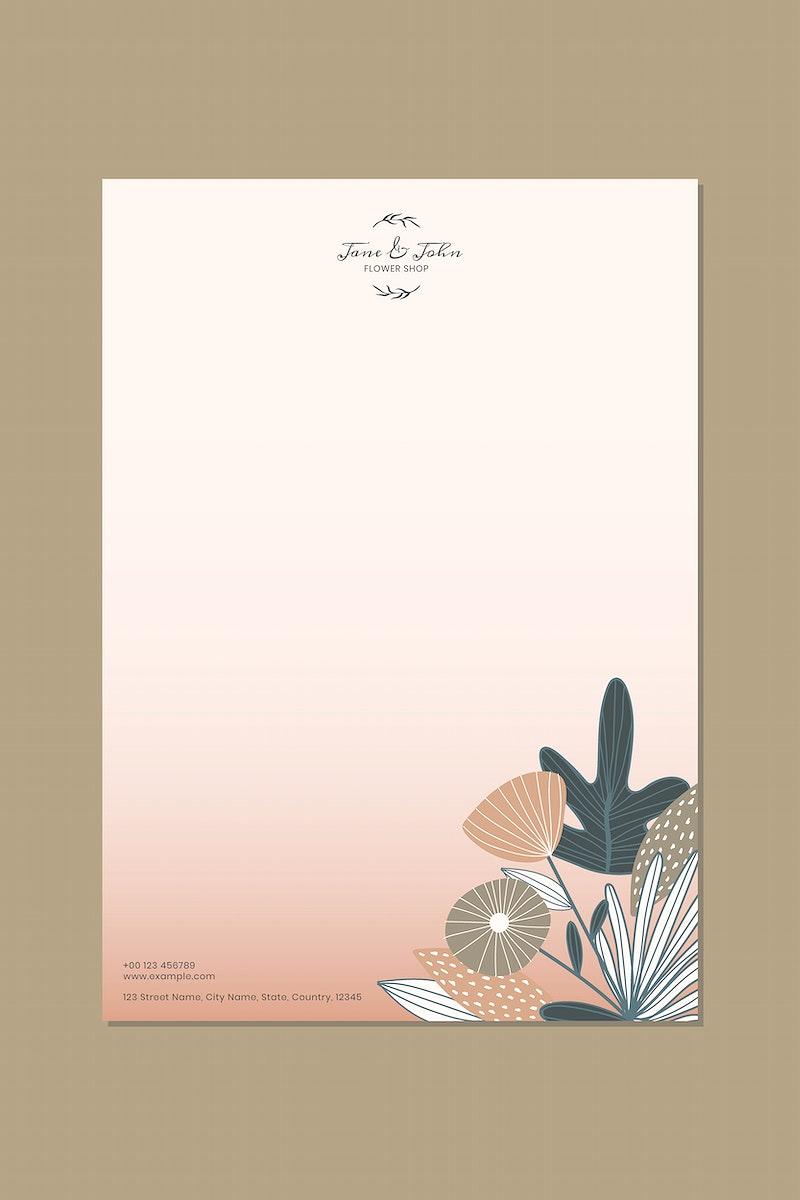 Flower shop poster design vector
