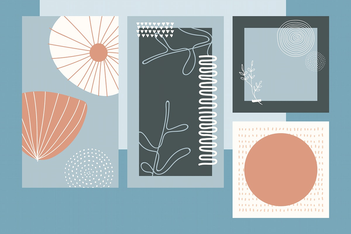 Blank poster design vector set