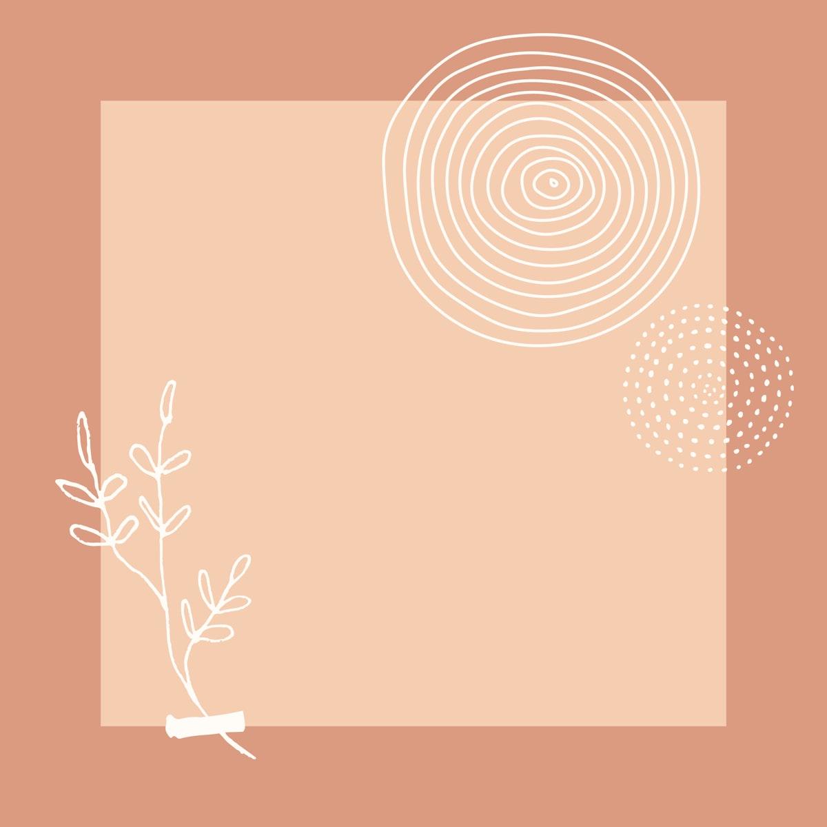 Blank pink poster design vector