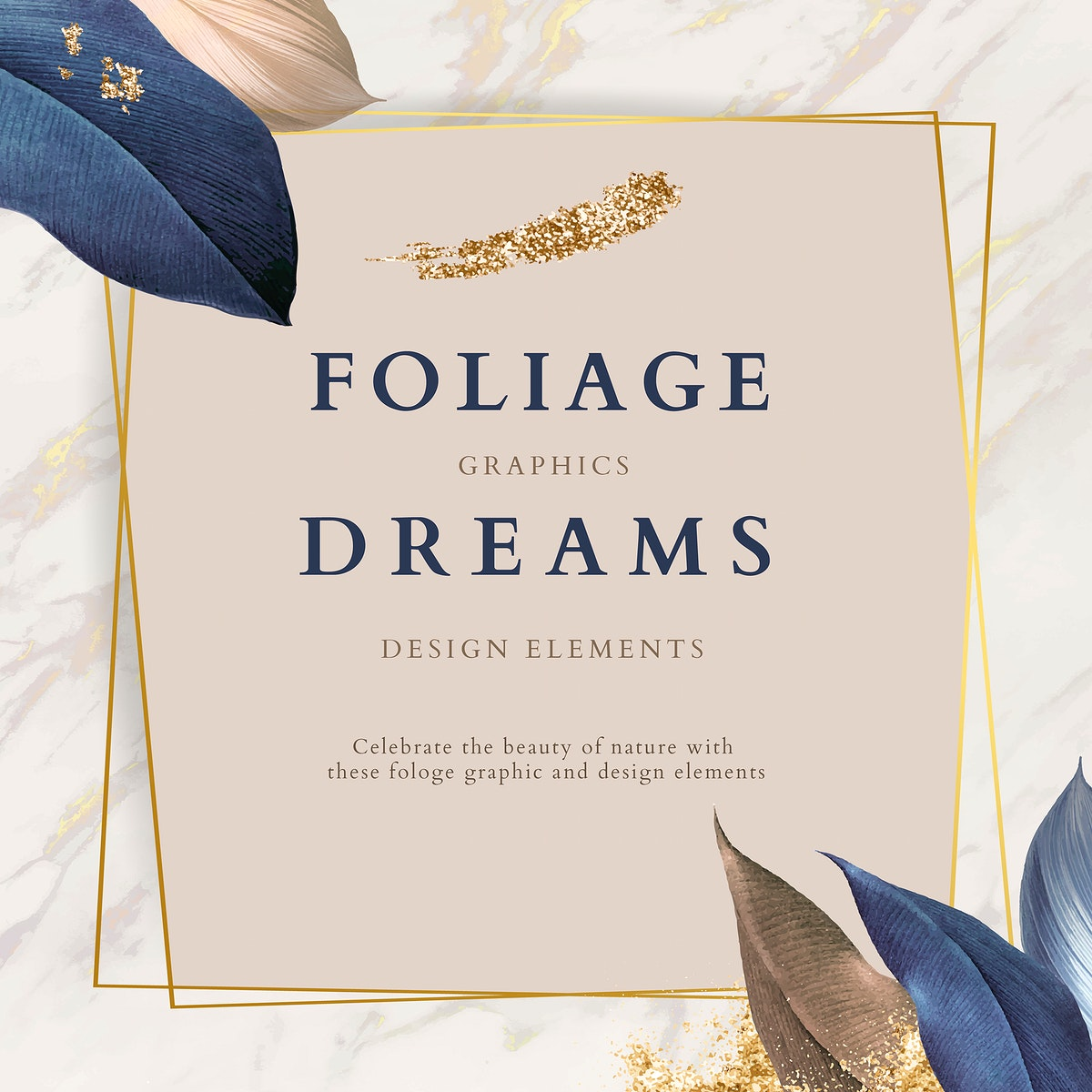 Foliage dreams design elements vector