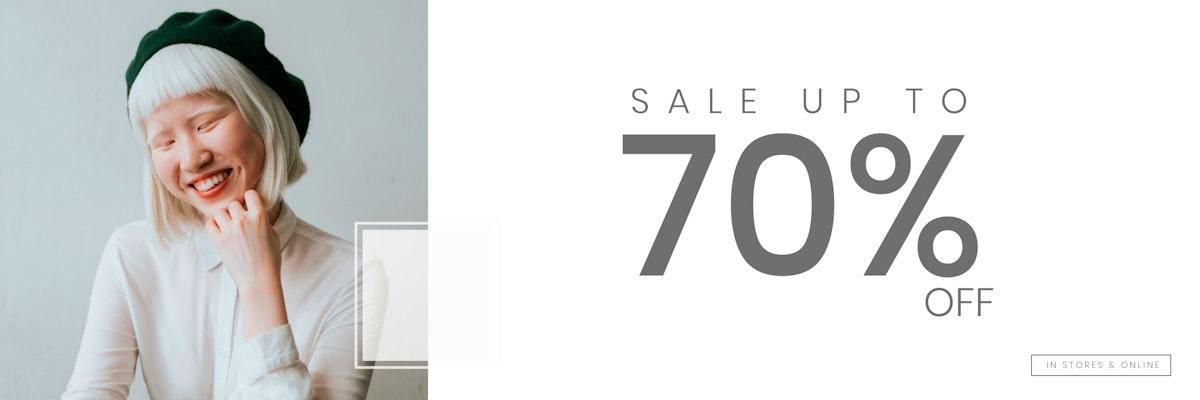 Online store sale banner template vector
