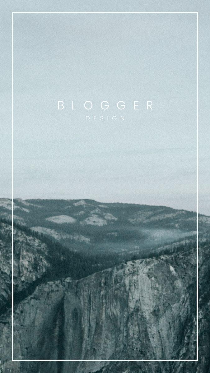 Travel blogger social story template vector