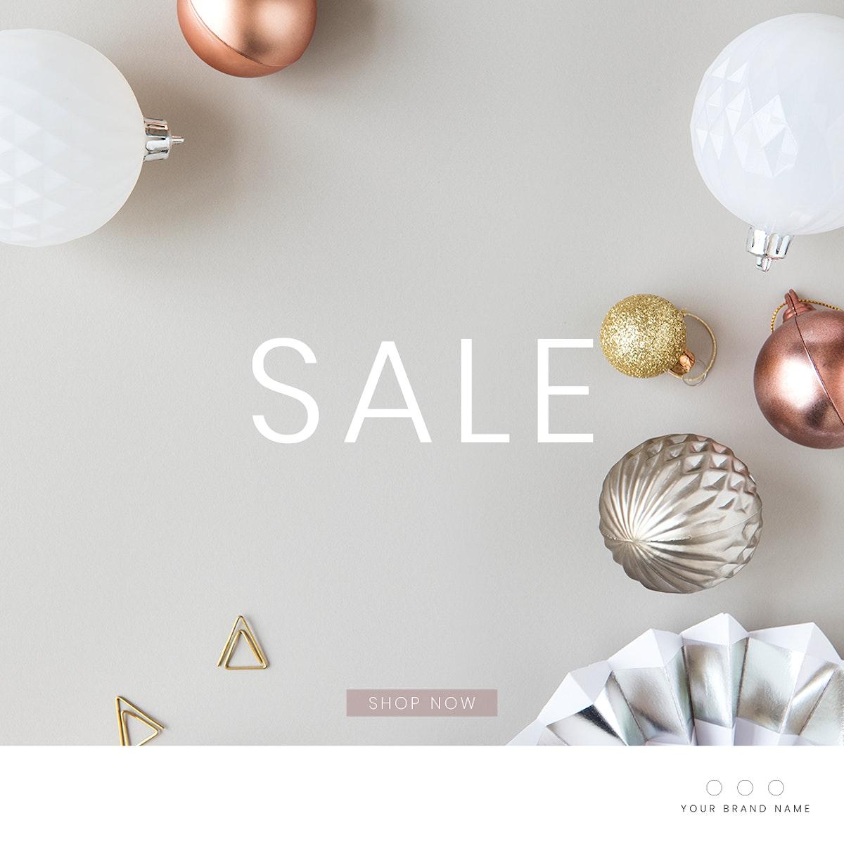 Festive sale ads template mockup