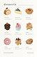 Hand drawn bakery menu chart Pinterest template vector