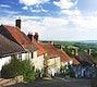 Idyllic Golden Hill in rural Shafetsbury, Dorset, UK