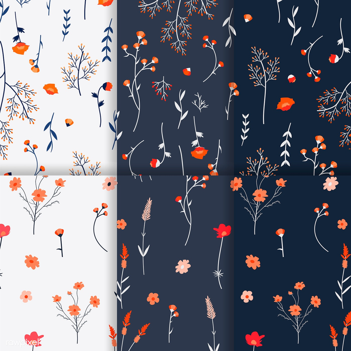 Floral Patterned Background Free Stock Vector 544810