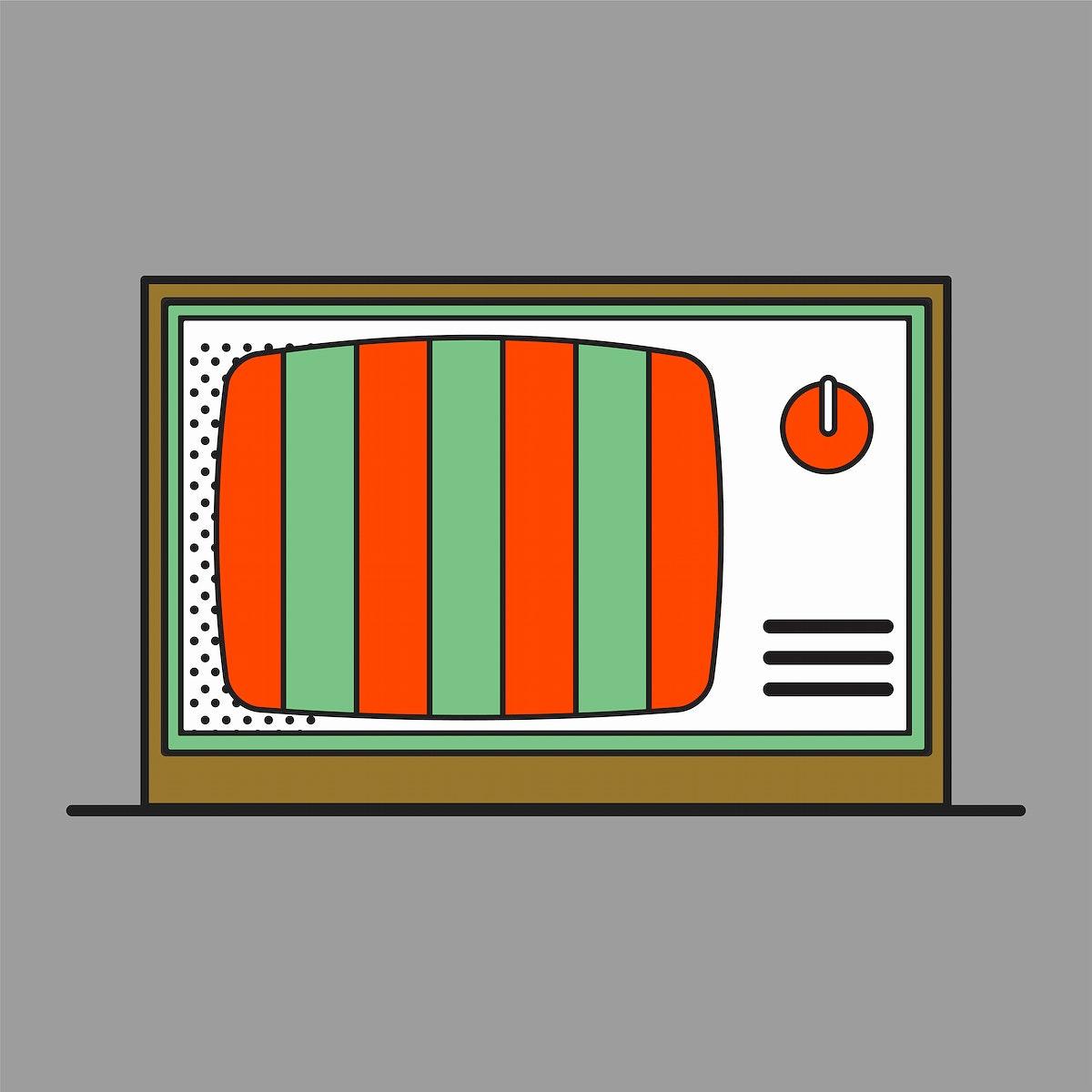 Old school device vector