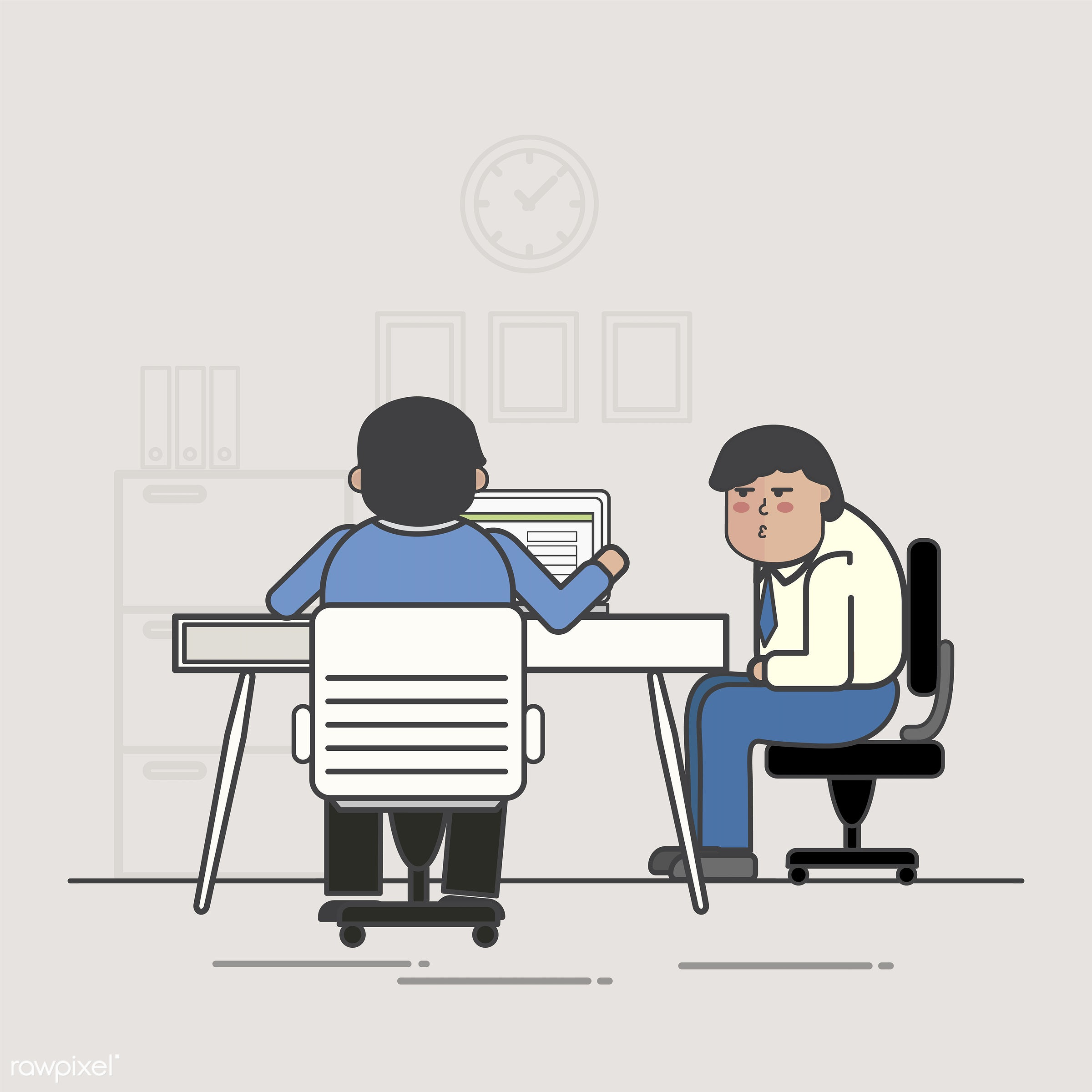 Illustration of business people avatar - avatar, business, cartoon, character, drawing, employee, flat, graphic,...