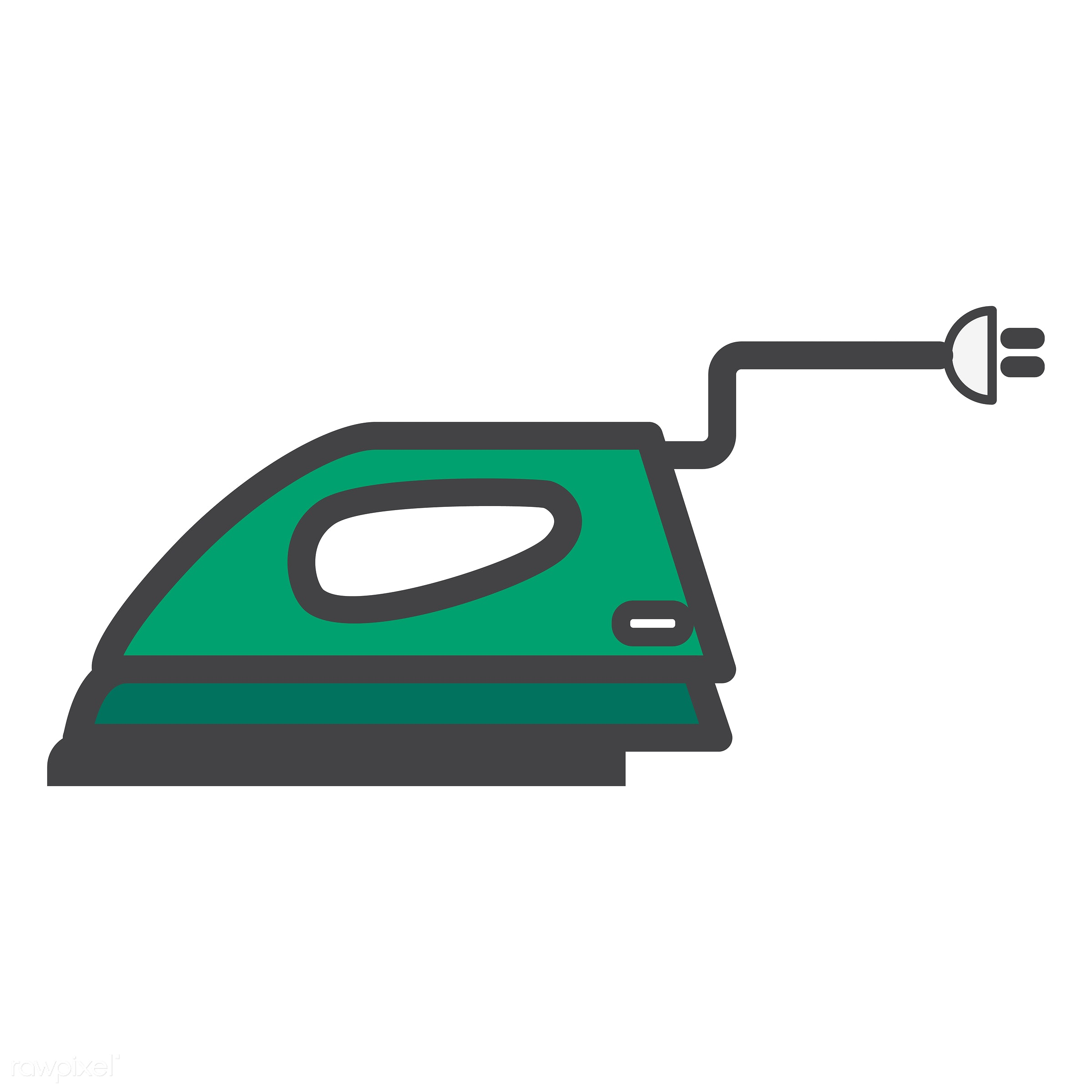 Iron icon vector - iron, abode, adults, clothes, comfort, cozy, dwelling, home, homely, house, household, living, pad,...