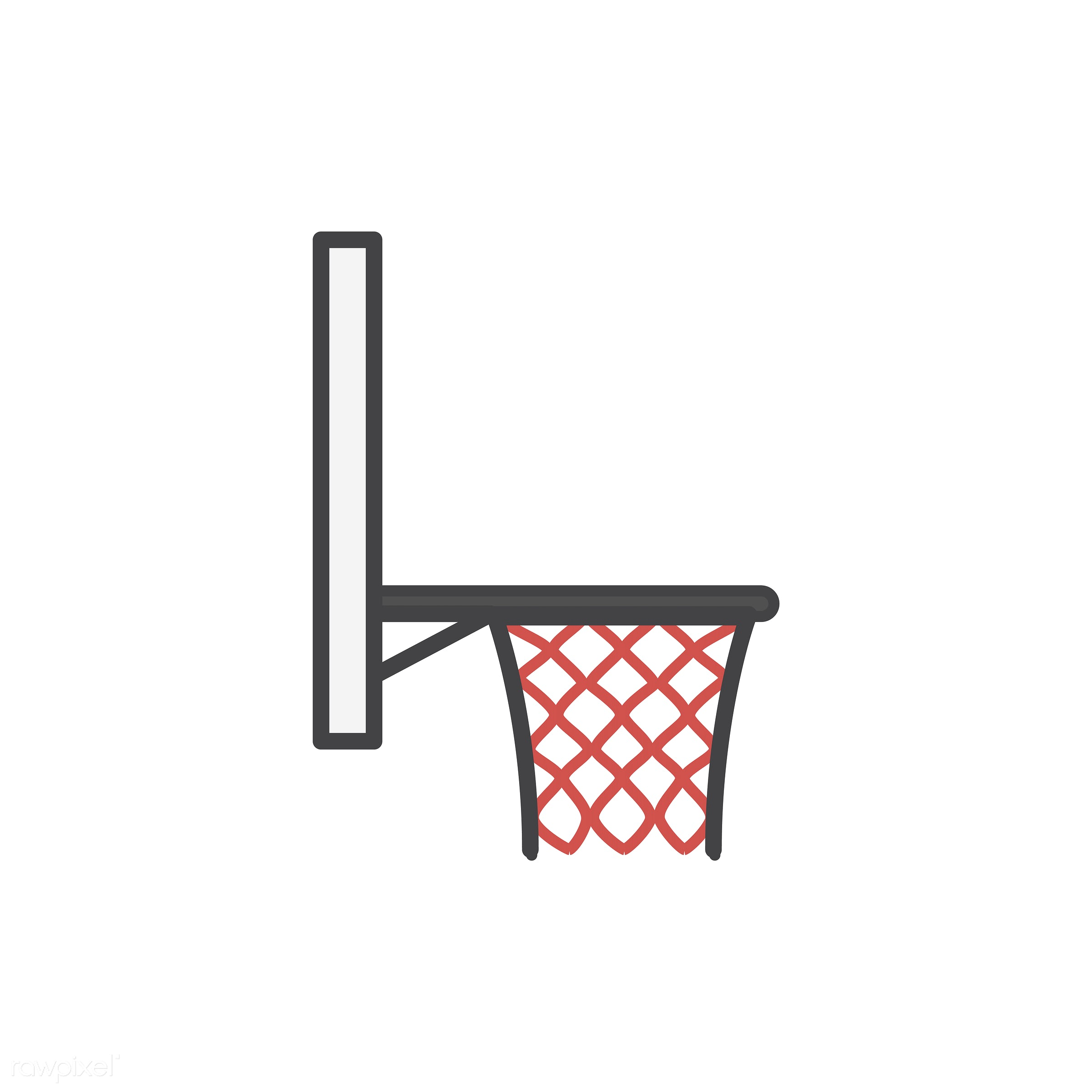 Simple basketball hoop icon vector - score, abode, adults, basketball, comfort, cozy, dwelling, home, homely, house,...