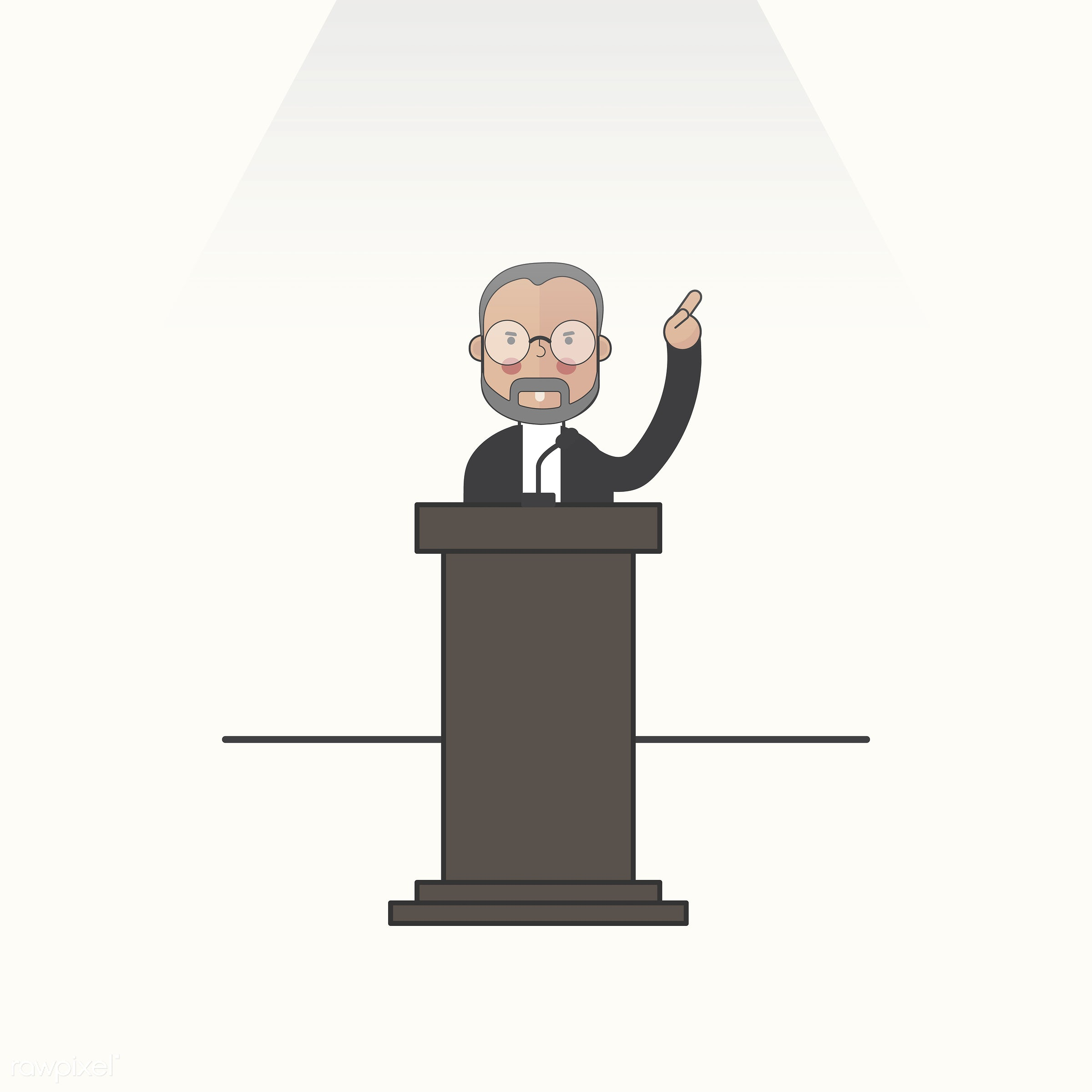 Illustration of people avatar - speech, man, podium, politician, avatar, icon, illustration, leader, lecturer, political,...