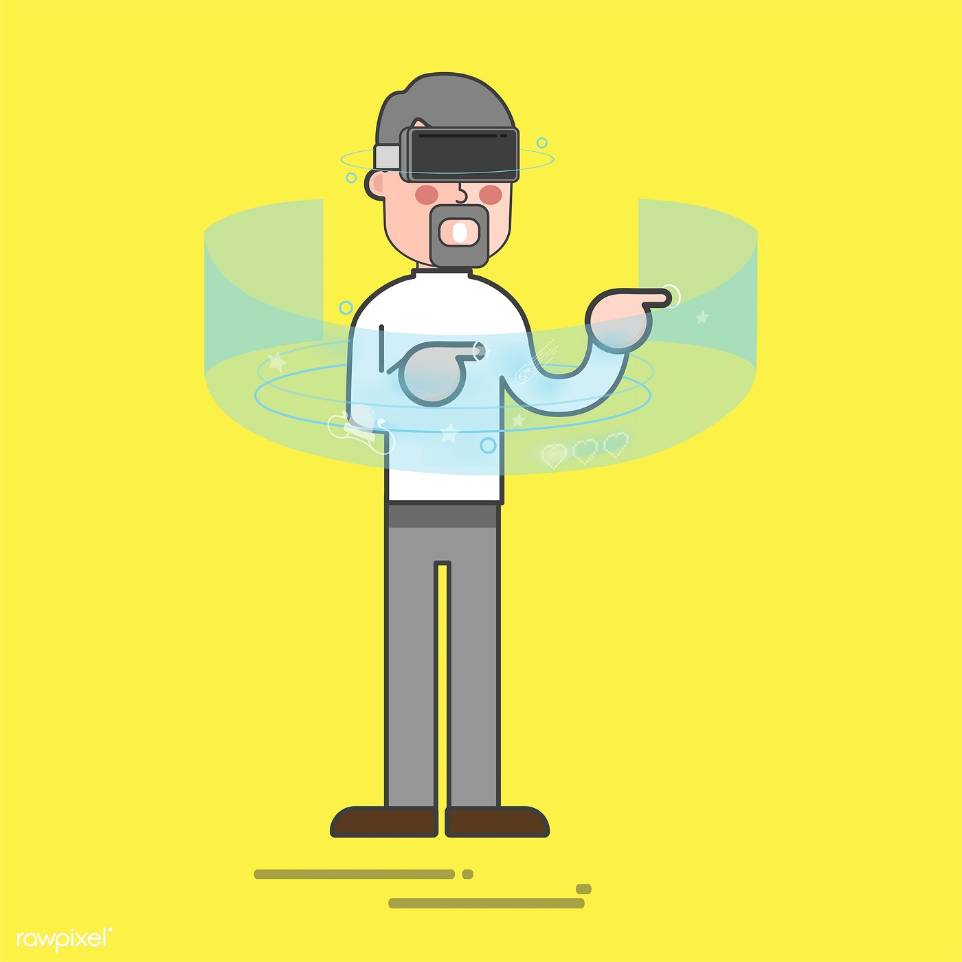 Download premium vector about ar, vr and 3d 77268