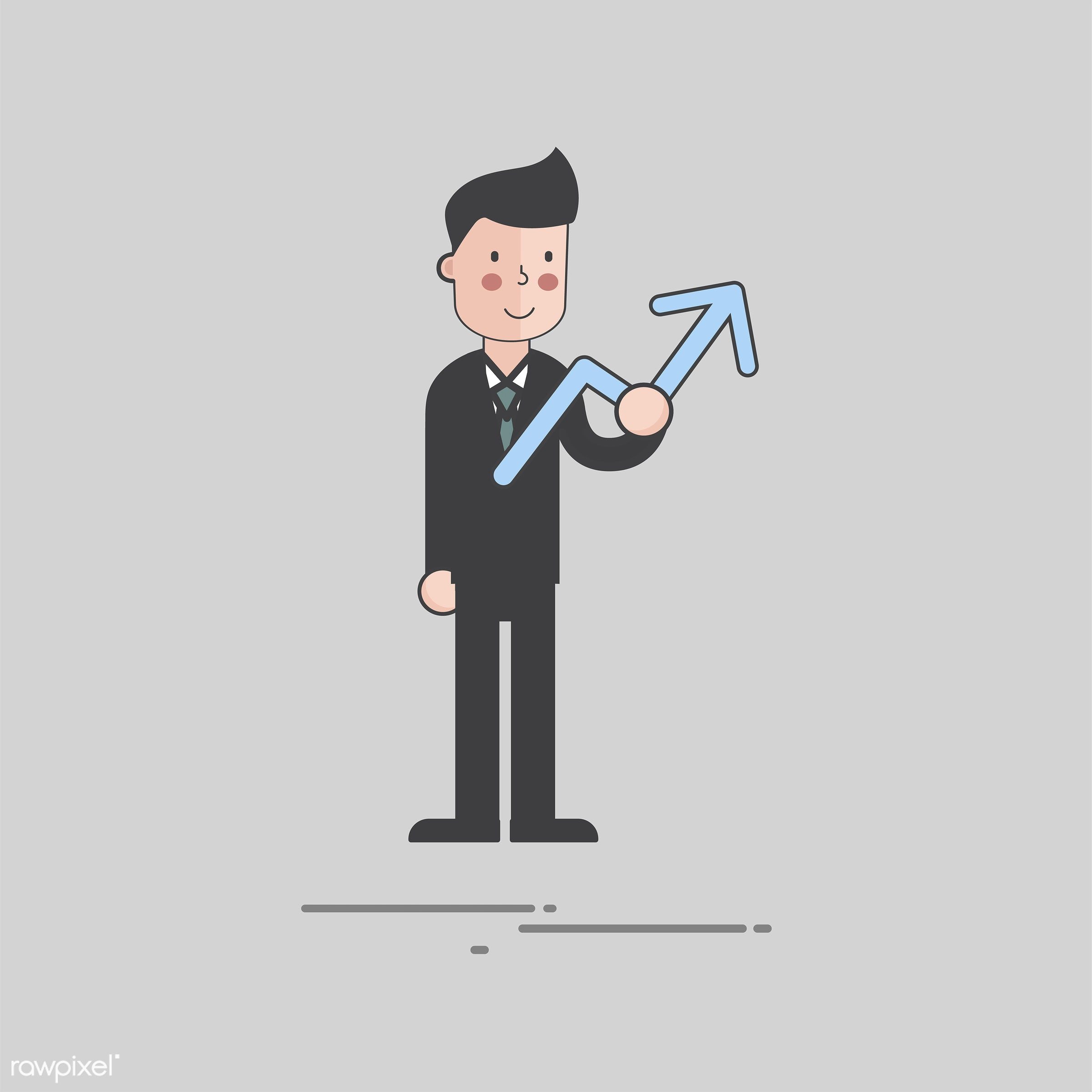 Illustration of people avatar - business, cartoon, character, drawing, flat, graphic, holding, icon, illustration, man, sign...