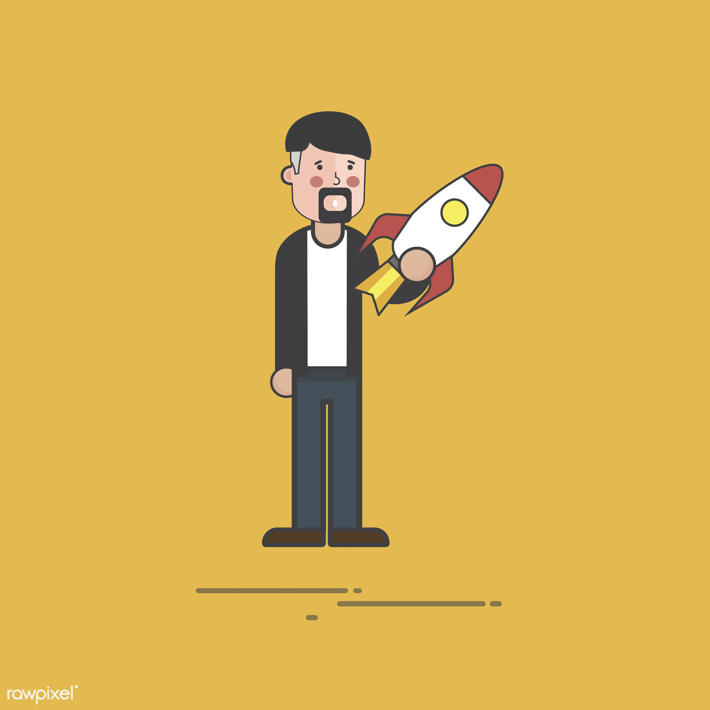 Illustration of people avatar - business, cartoon, character, drawing, flat, graphic, icon, illustration, man, vector,...
