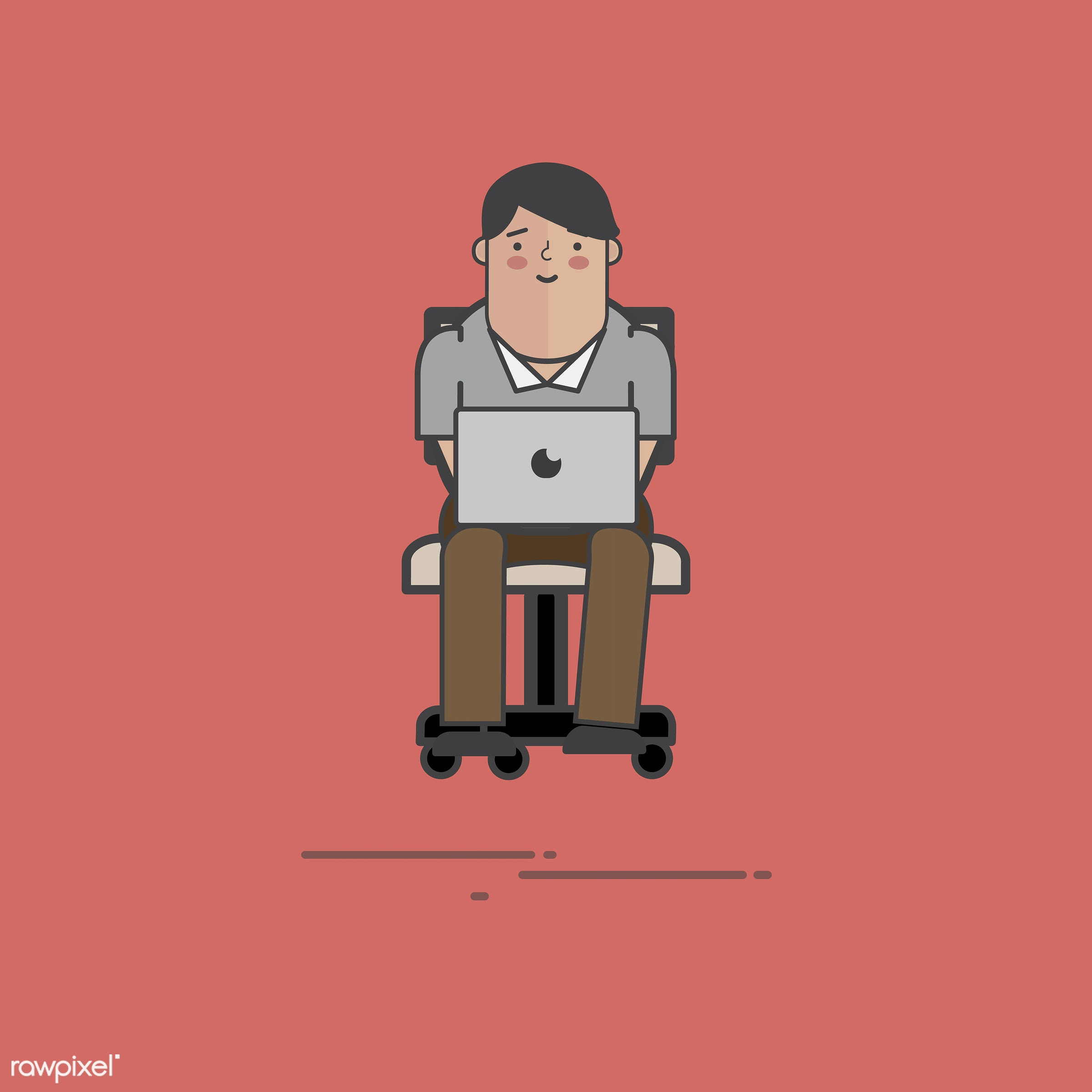 Illustration of people avatar - alone, cartoon, character, communication, computer, connection, design, drawing, graphic,...
