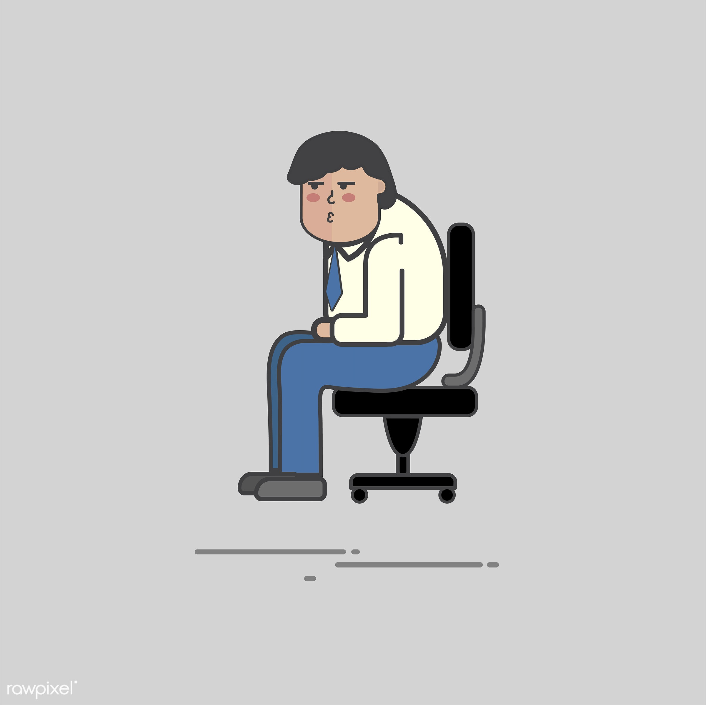 Illustration of people avatar - alone, businessman, cartoon, character, design, drawing, graphic, guy, illustration, male,...