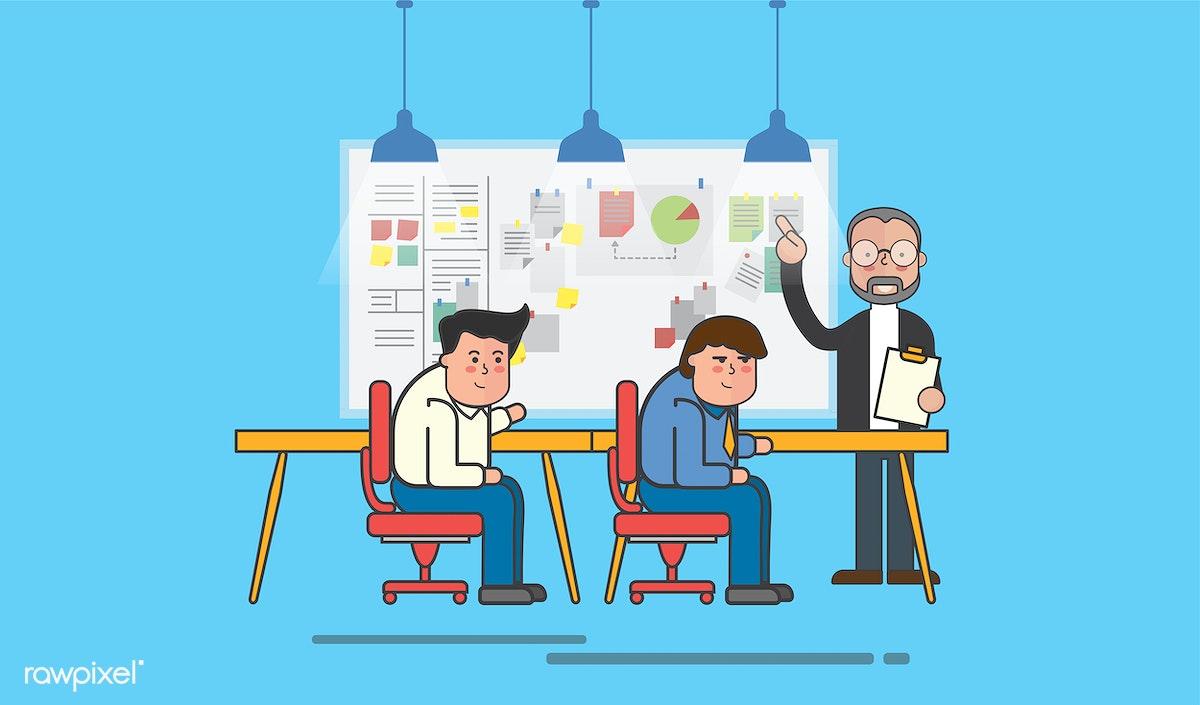 Download premium illustration of Illustration of business people avatar