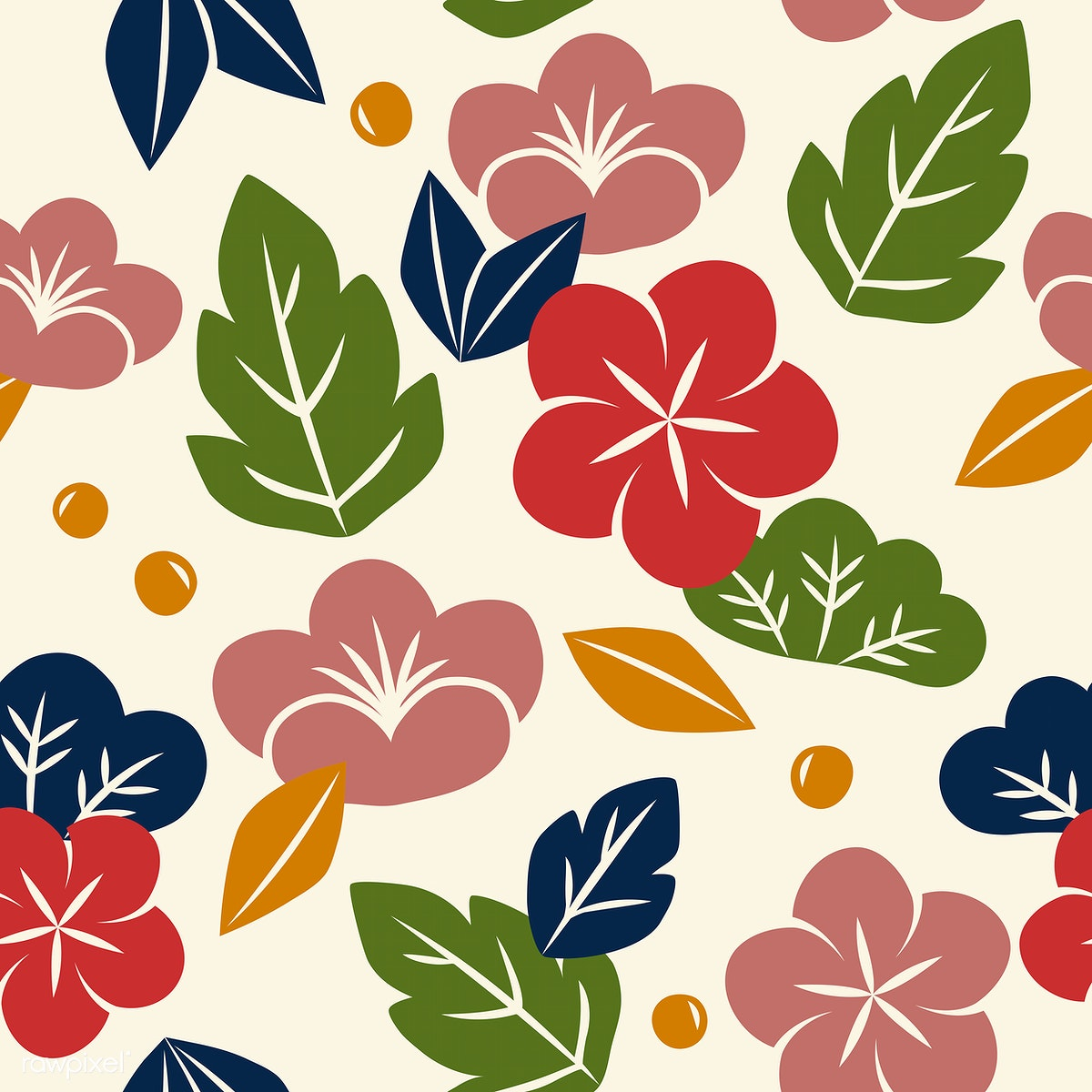 Vector Of Seamless Floral Pattern Free Stock Vector 42999