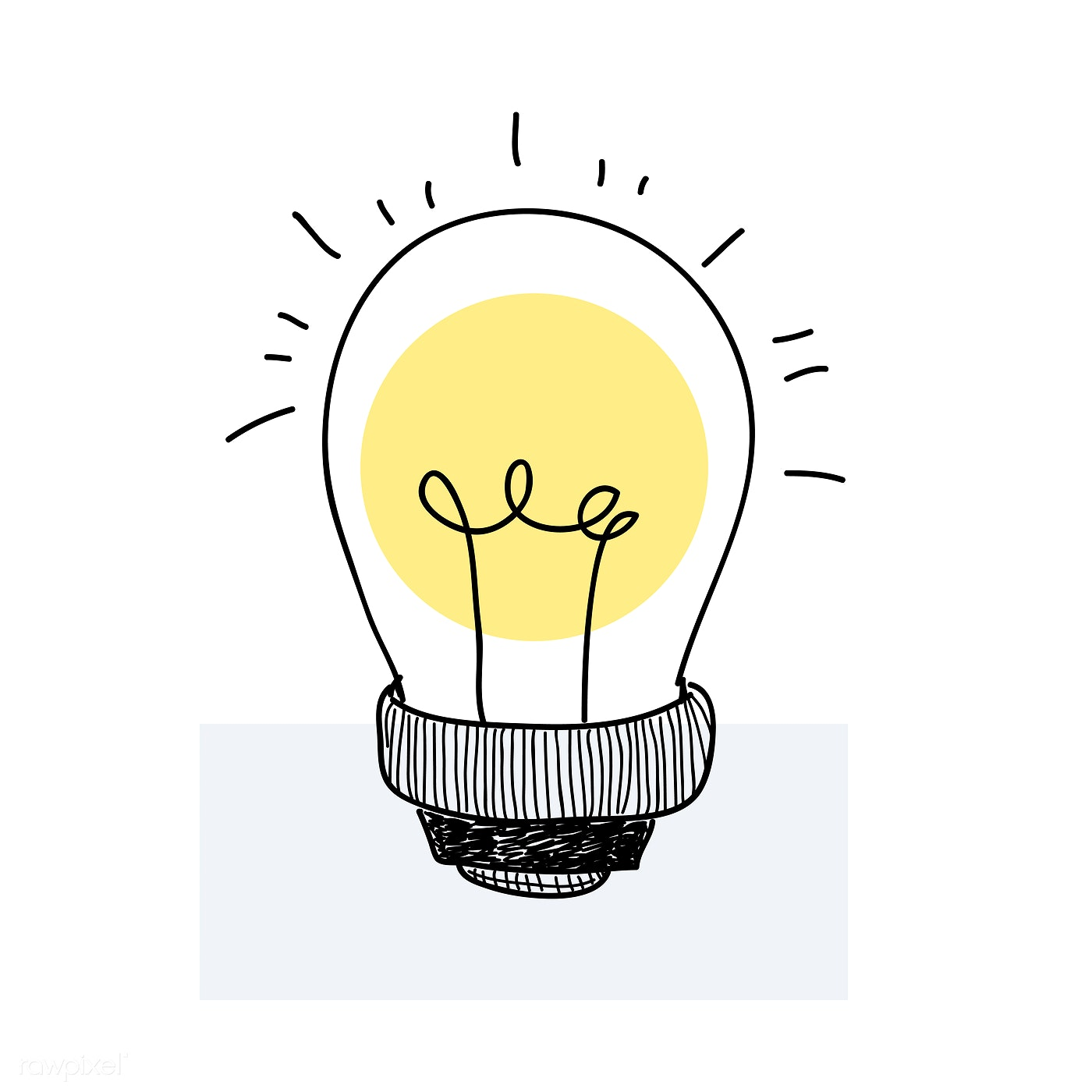 Vector of a light bulb doodle