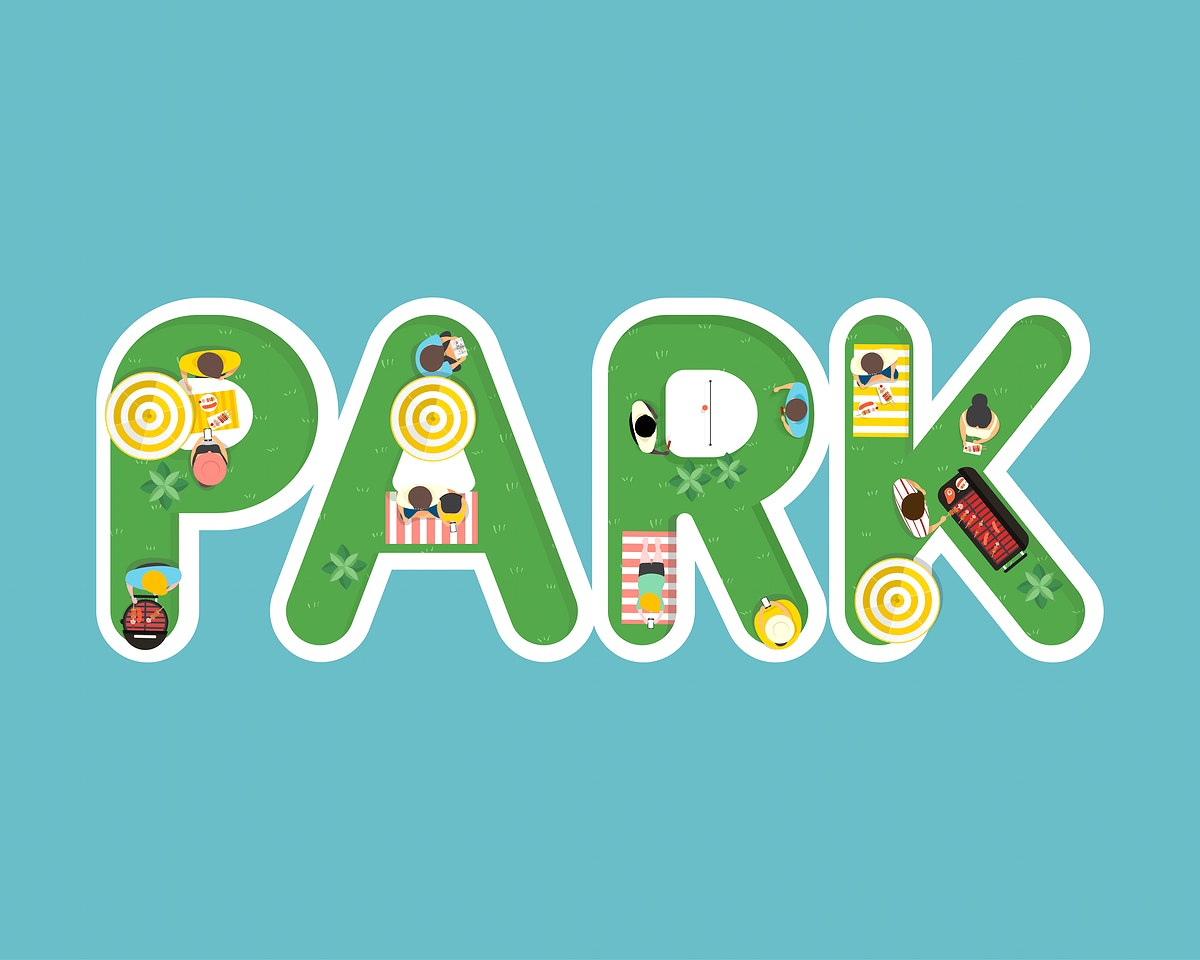 Vector of summer feel design with the word Park