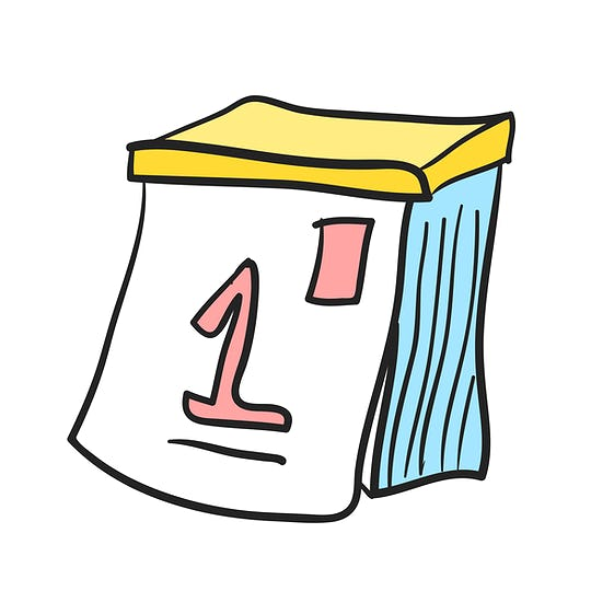Illustration of calendar vector icon