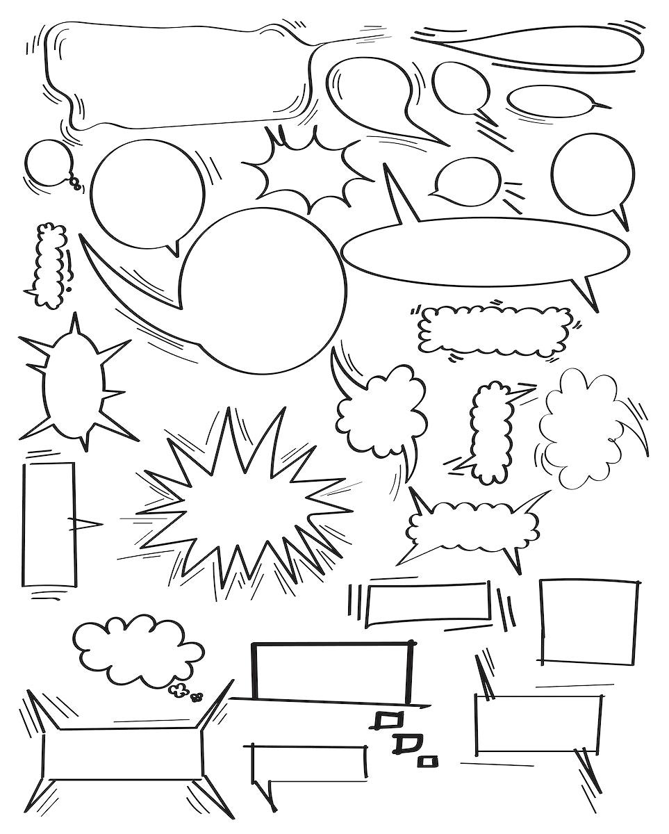Vector of speech bubbles collection