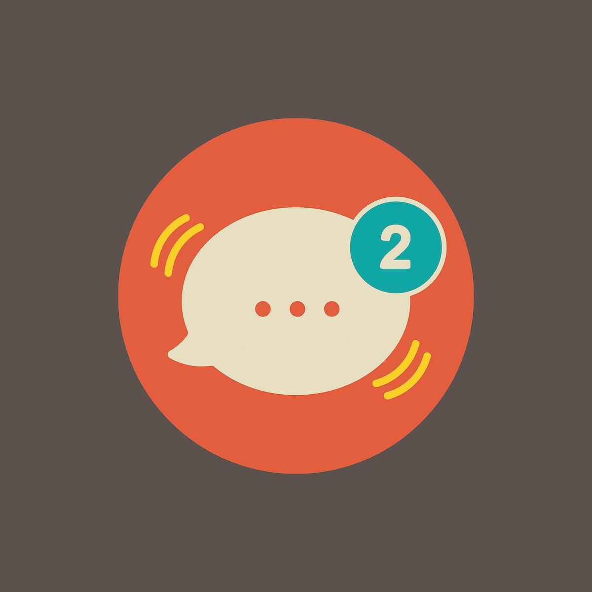 Illustration of message speech bubble icon