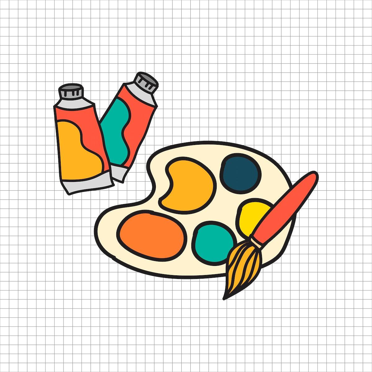 Stationary illustration drawing style