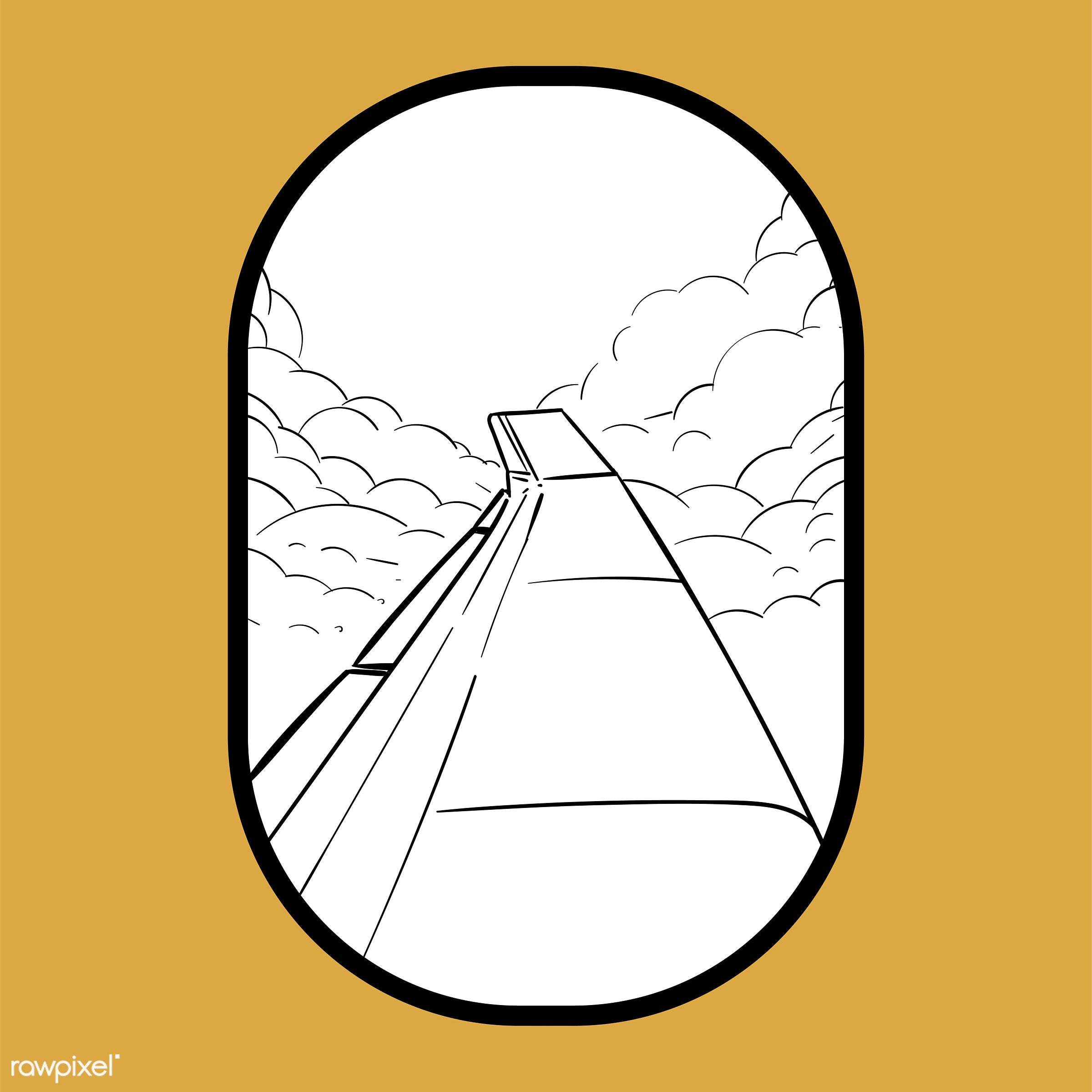Hand drawing illustration set of wanderlust icons - adventure, airplane, art, artwork, camp, camping, cloud, creative,...