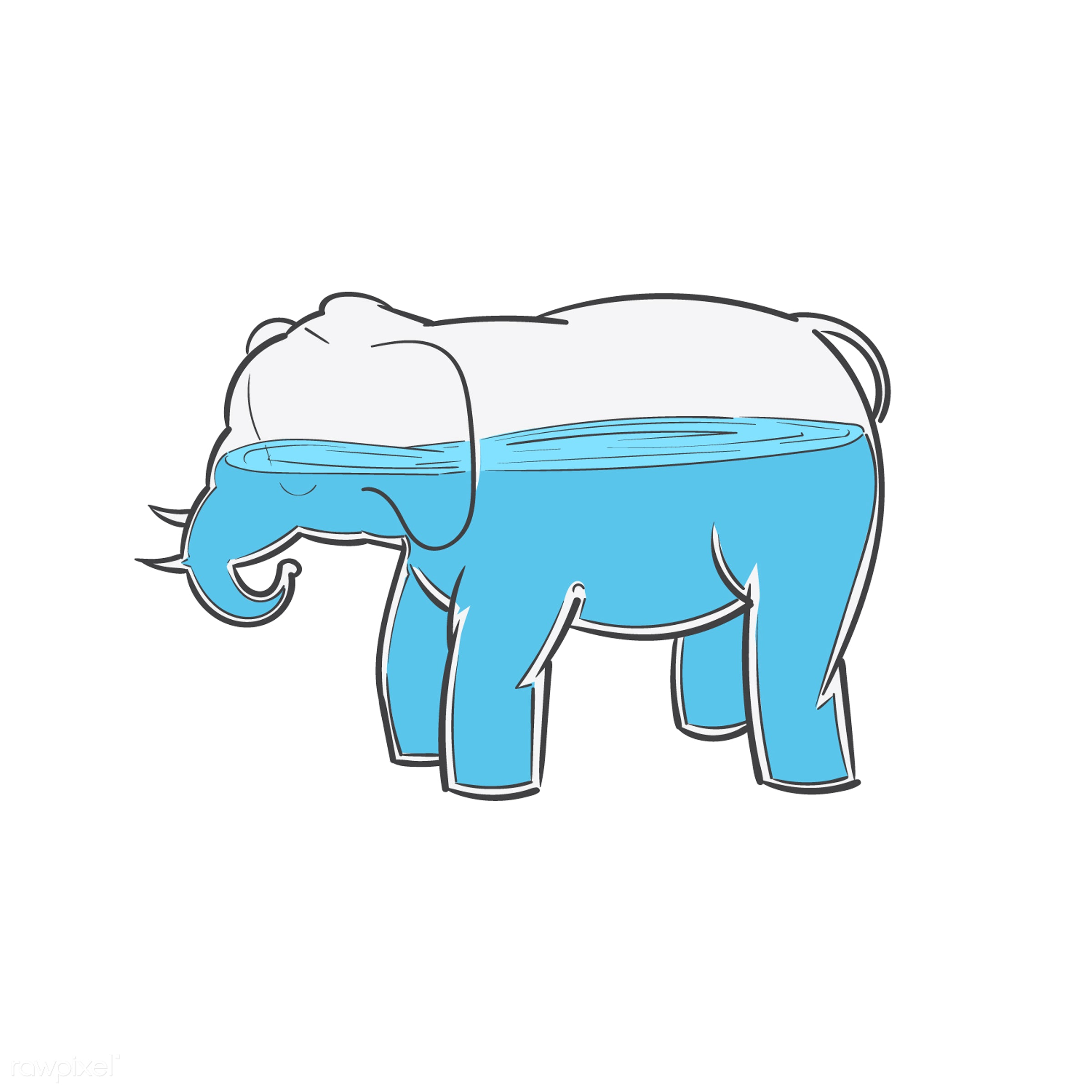 One can never know to much idiom vector - elephant, art, creative, creativity, design, drawing, drawn, educate, experience,...
