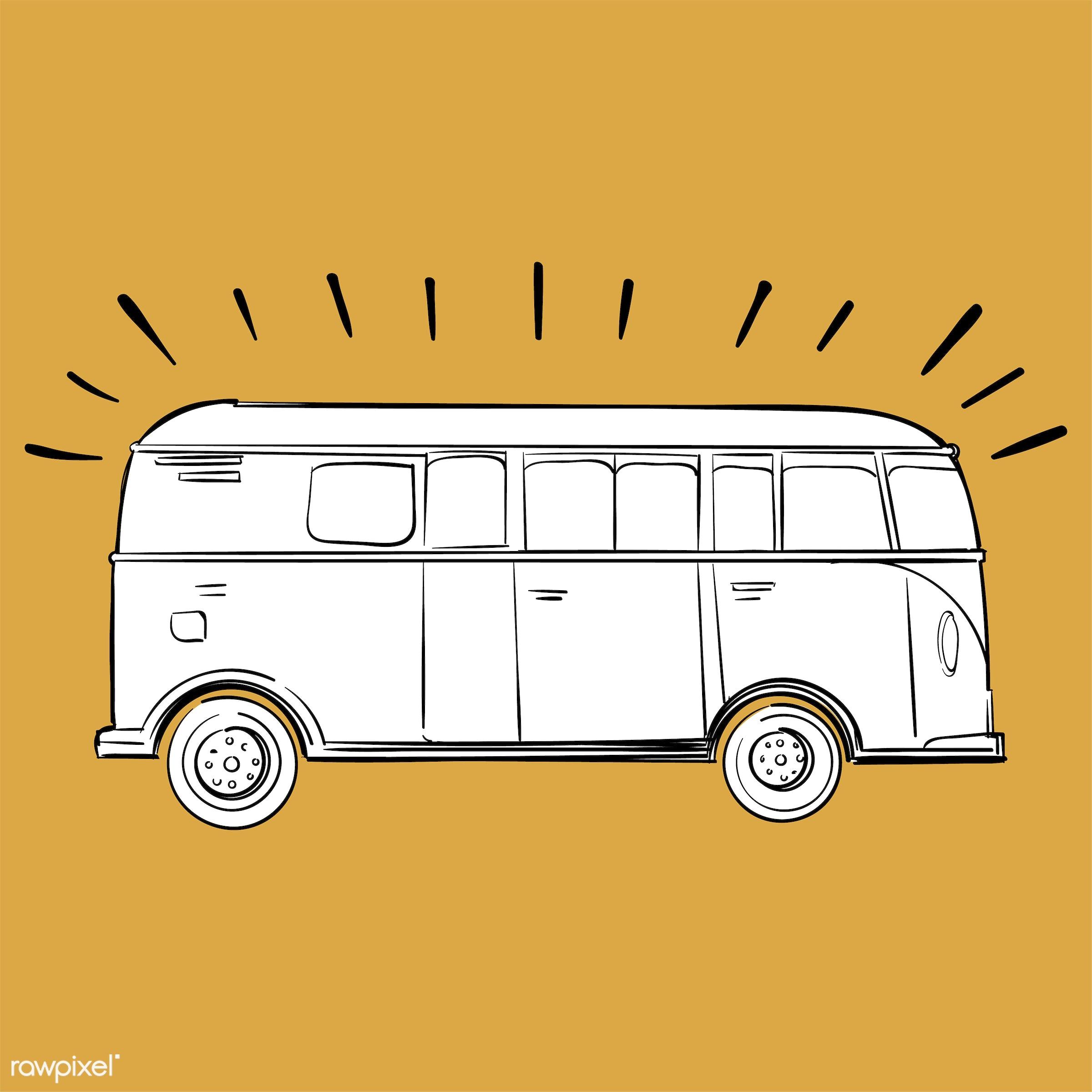 Hand drawing illustration set of wanderlust icons - adventure, art, artwork, bus, camp, camping, car, creative, creativity,...