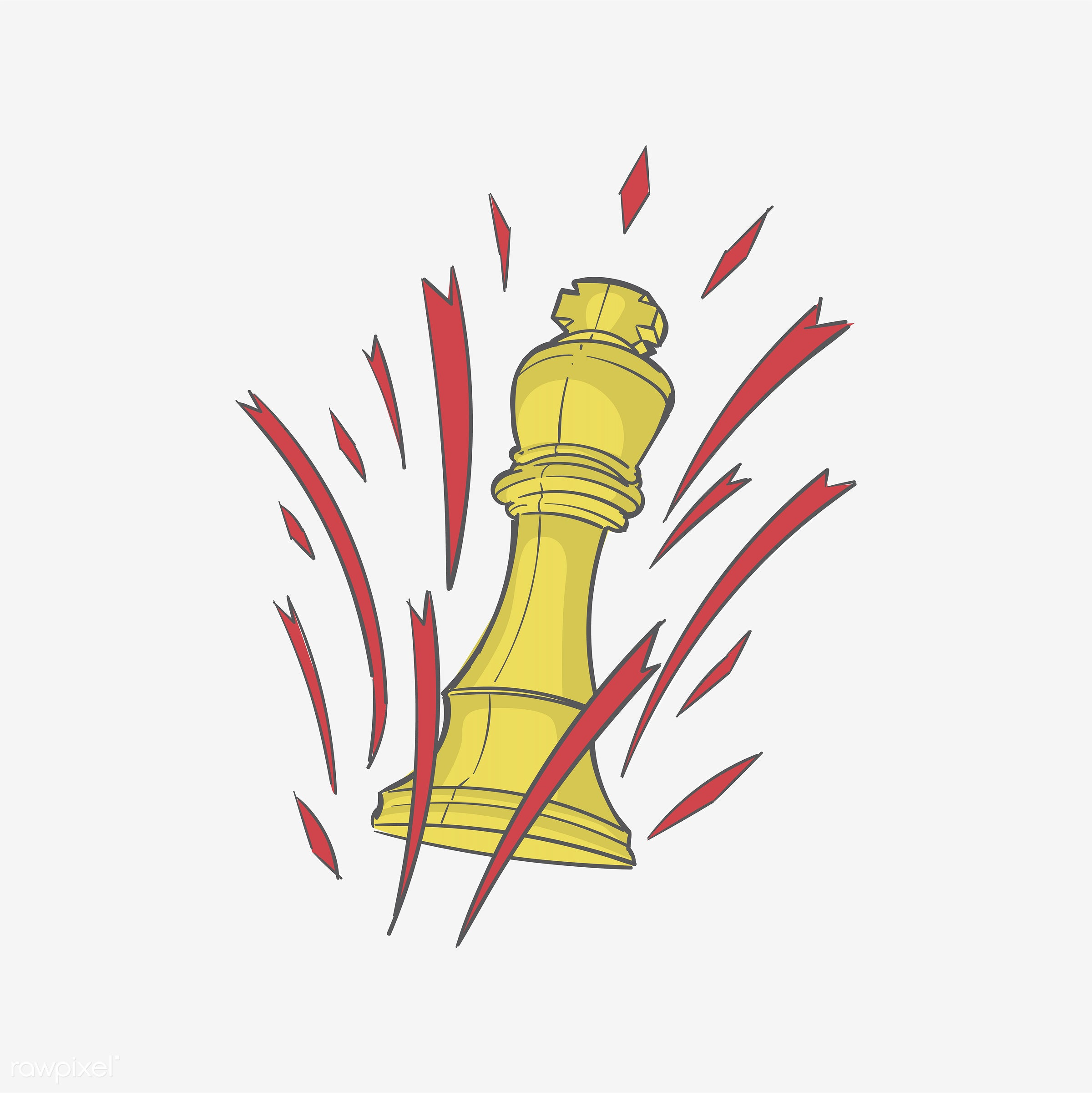 Hand drawing illustration of successful concept - achievement, aim, art, artwork, business, challenge, checkmate, chess,...