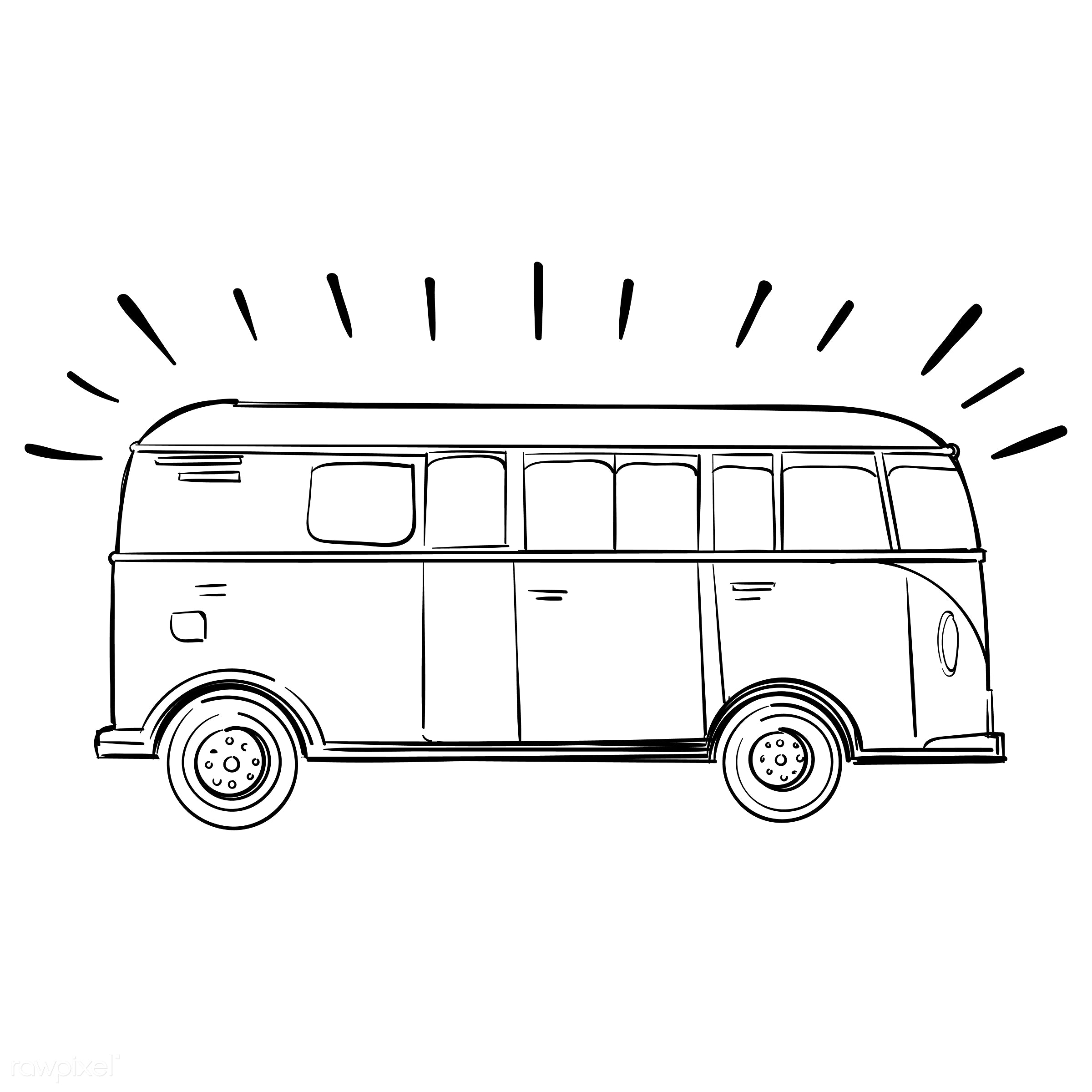 Hand drawing illustration set of wanderlust icons - adventure, art, artwork, bus, camp, camping, car, creative, creativity,...