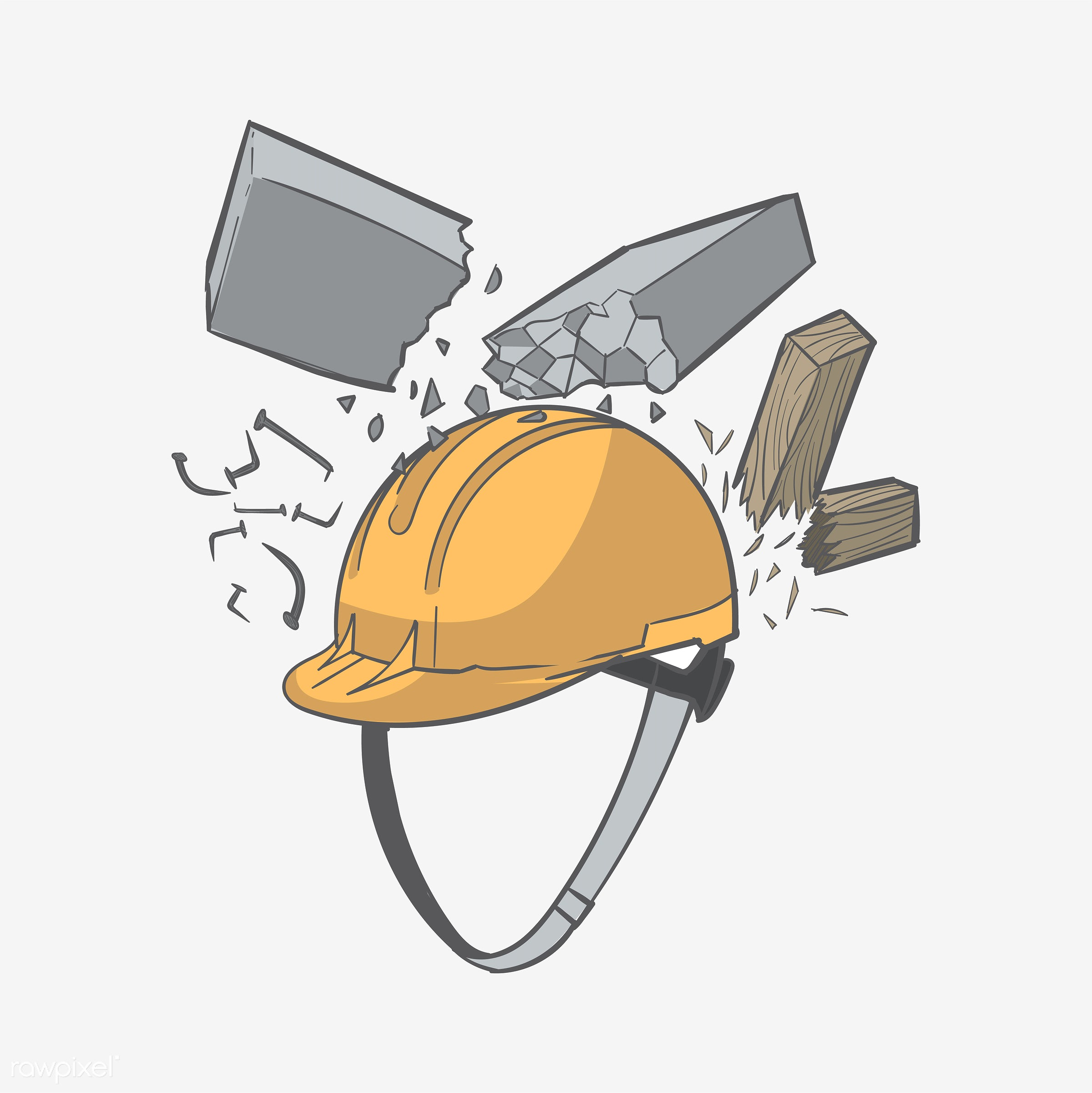 Hand drawing illustration of safety concept - construction, art, artwork, business, creative, creativity, design, draw,...