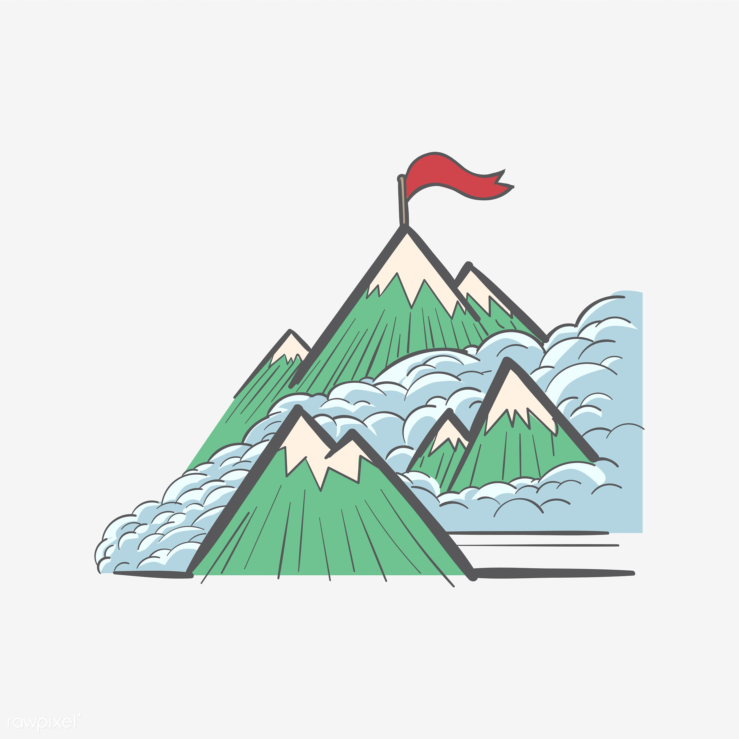 Mountain tops - aim, art, artwork, creative, creativity, design, development, draw, drawing, drawn, graphic, grow, growth,...