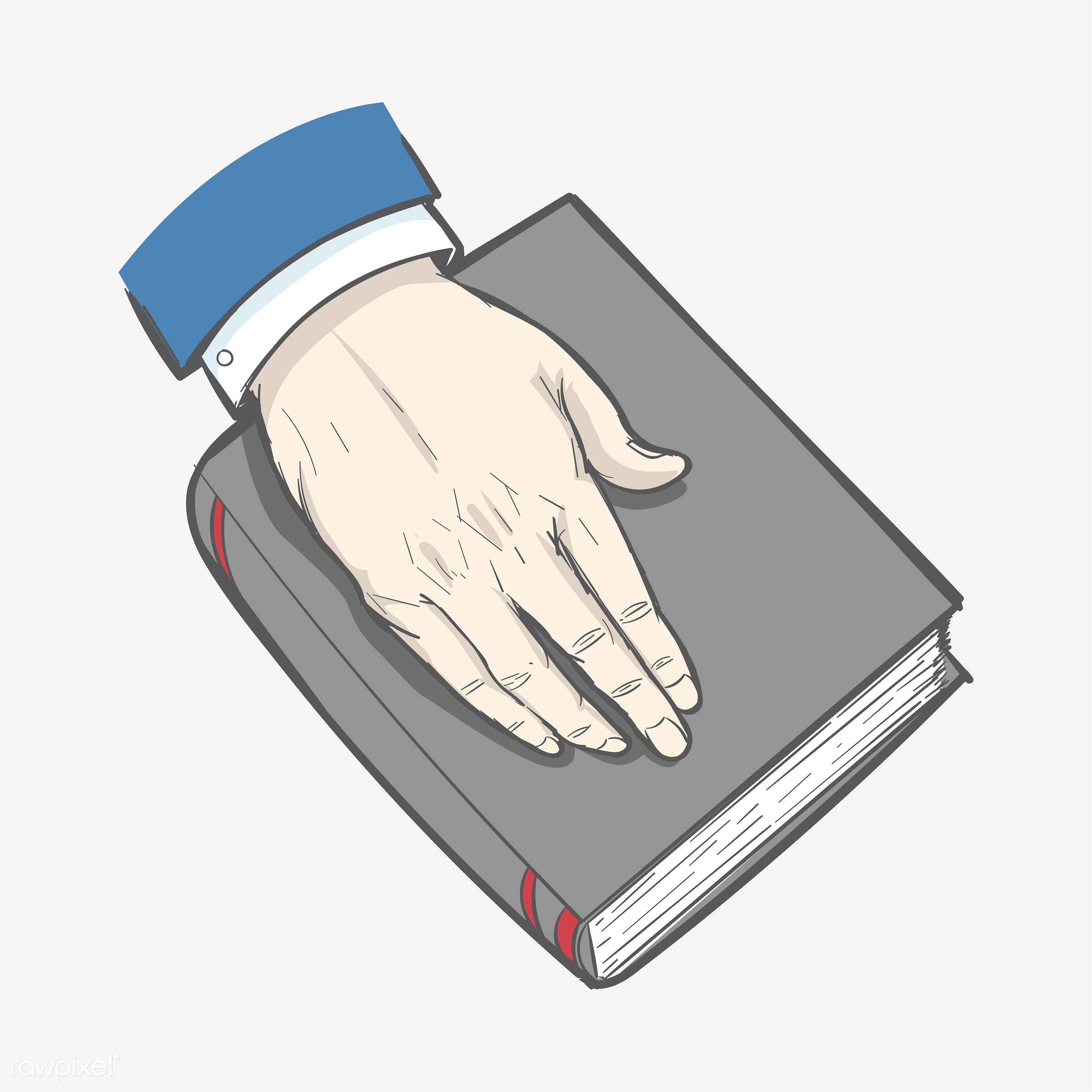 Hand drawn illustration of justice - art, artwork, bible, court, creative, creativity, design, draw, drawing, drawn,...