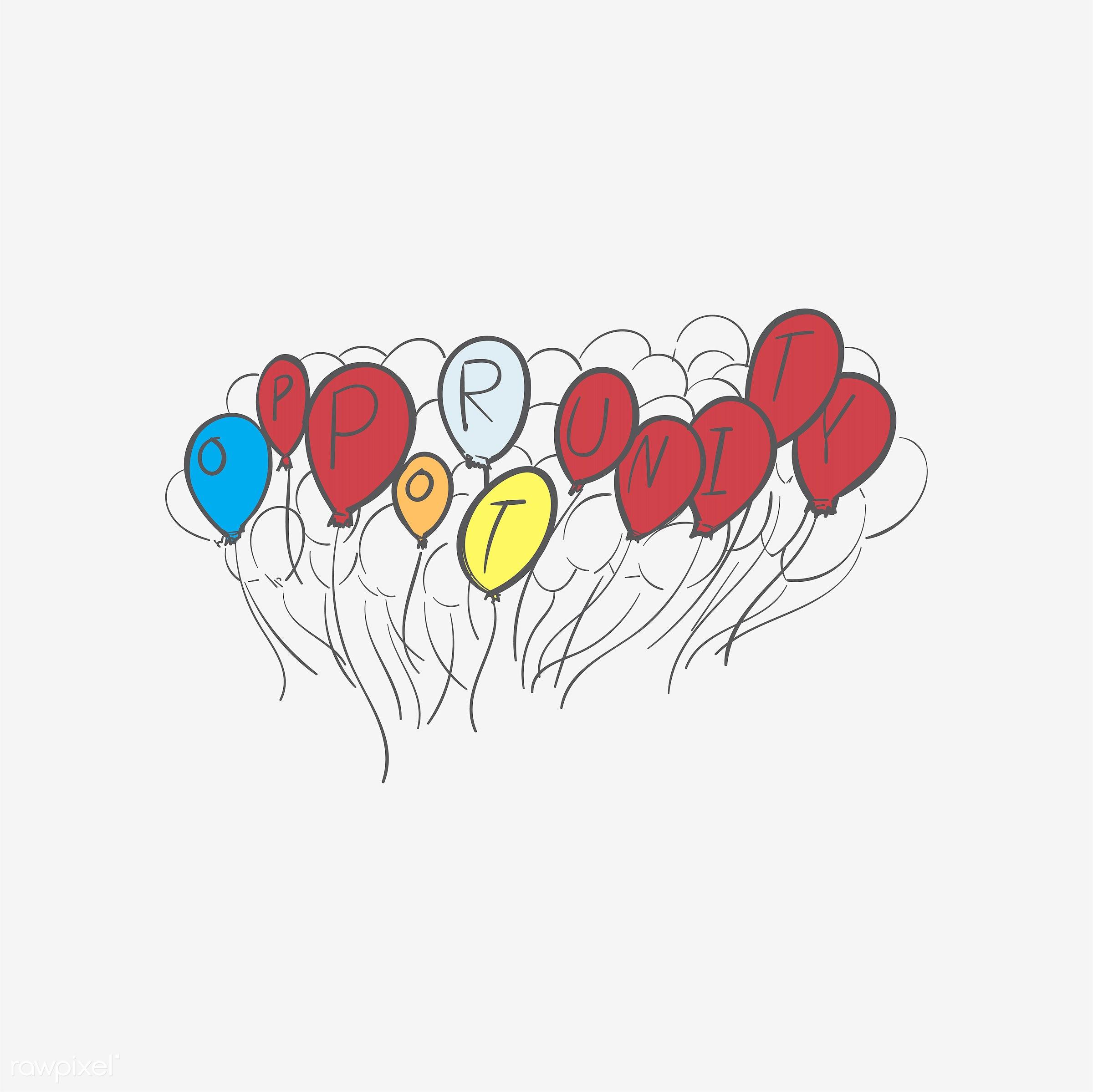 Hand drawing illustration of fail concept - art, artwork, balloons, creative, creativity, design, draw, drawing, drawn, fail...