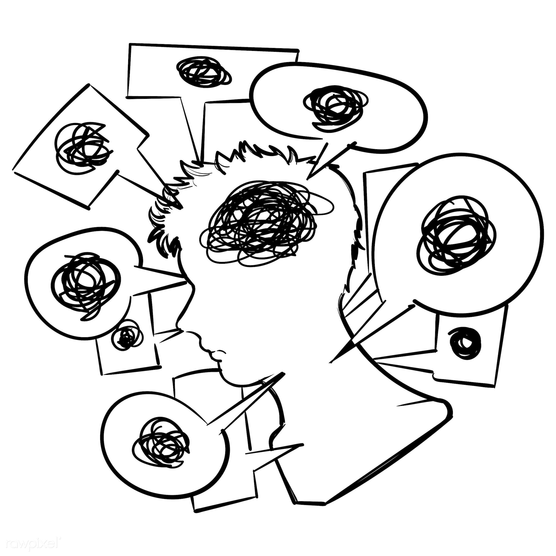 Hand drawing illustration of communication concept - art, artwork, chat, communication, connection, conversation, creative,...