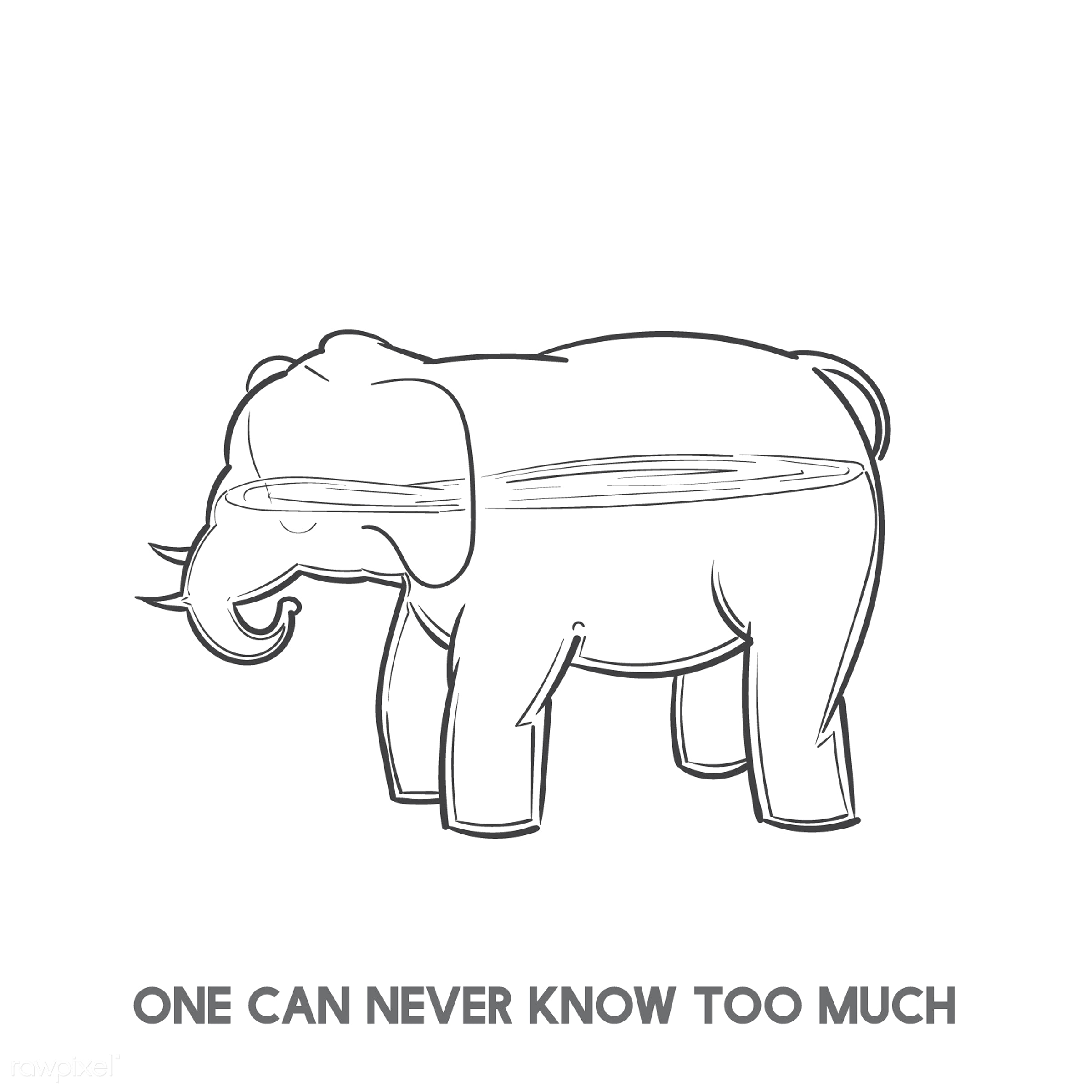 One can never know to much - animal, art, creative, creativity, design, drawing, drawn, educate, elephant, empty, experience...