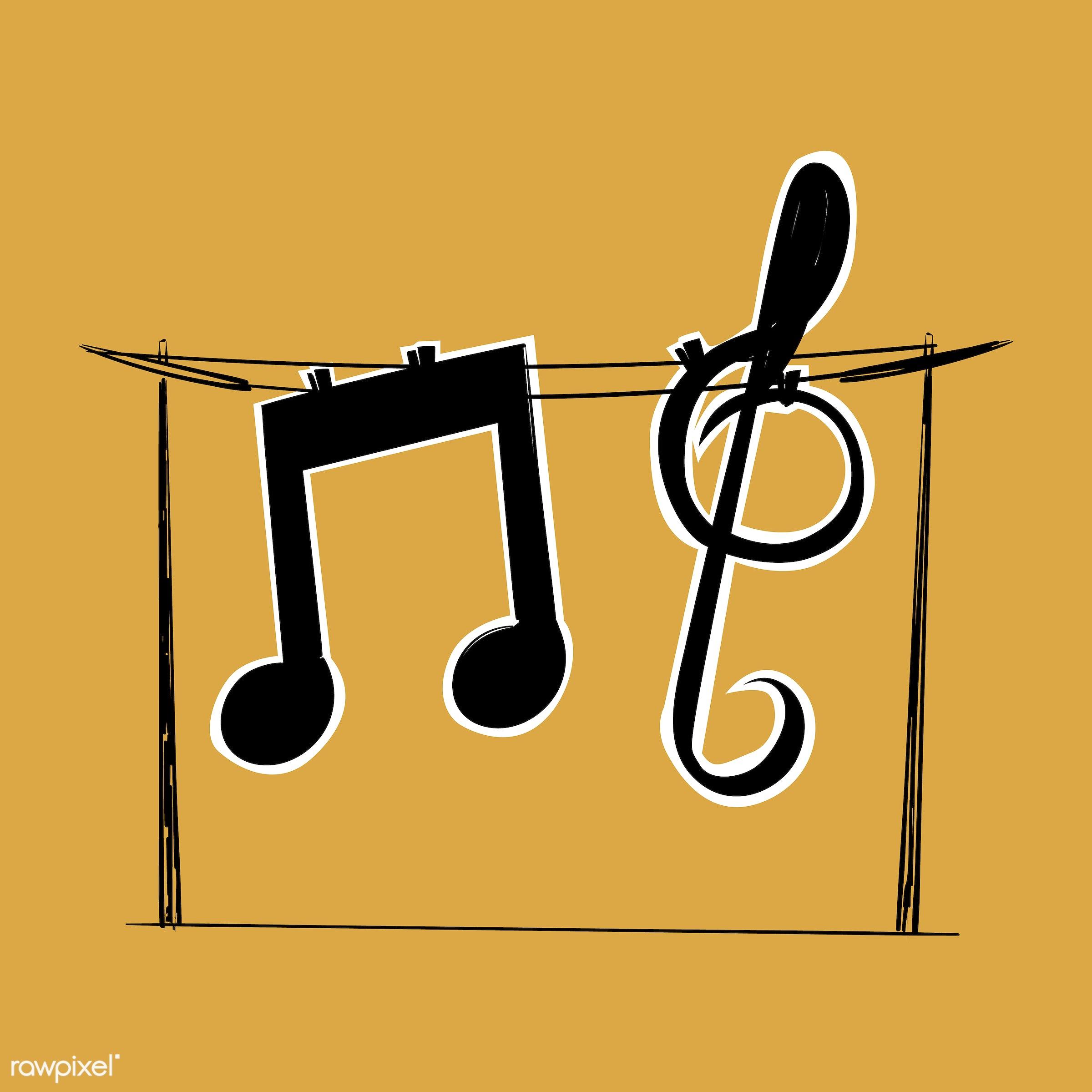 Hand drawing illustration of music entertainment concept - art, artwork, cassette, composing, creative, creativity, design,...