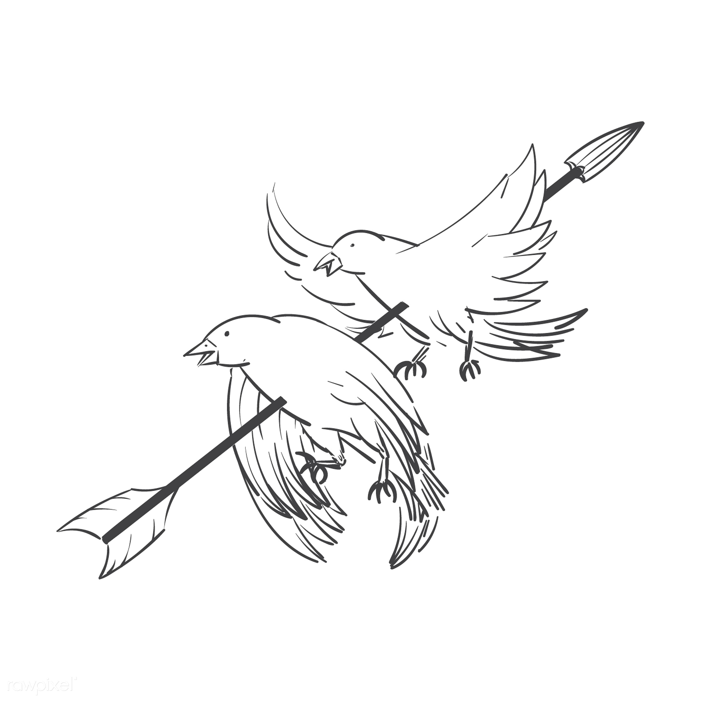 Kill two birds with one stone idiom vector - achievement, affective, arrow, art, benefits, birds, creative, creativity,...