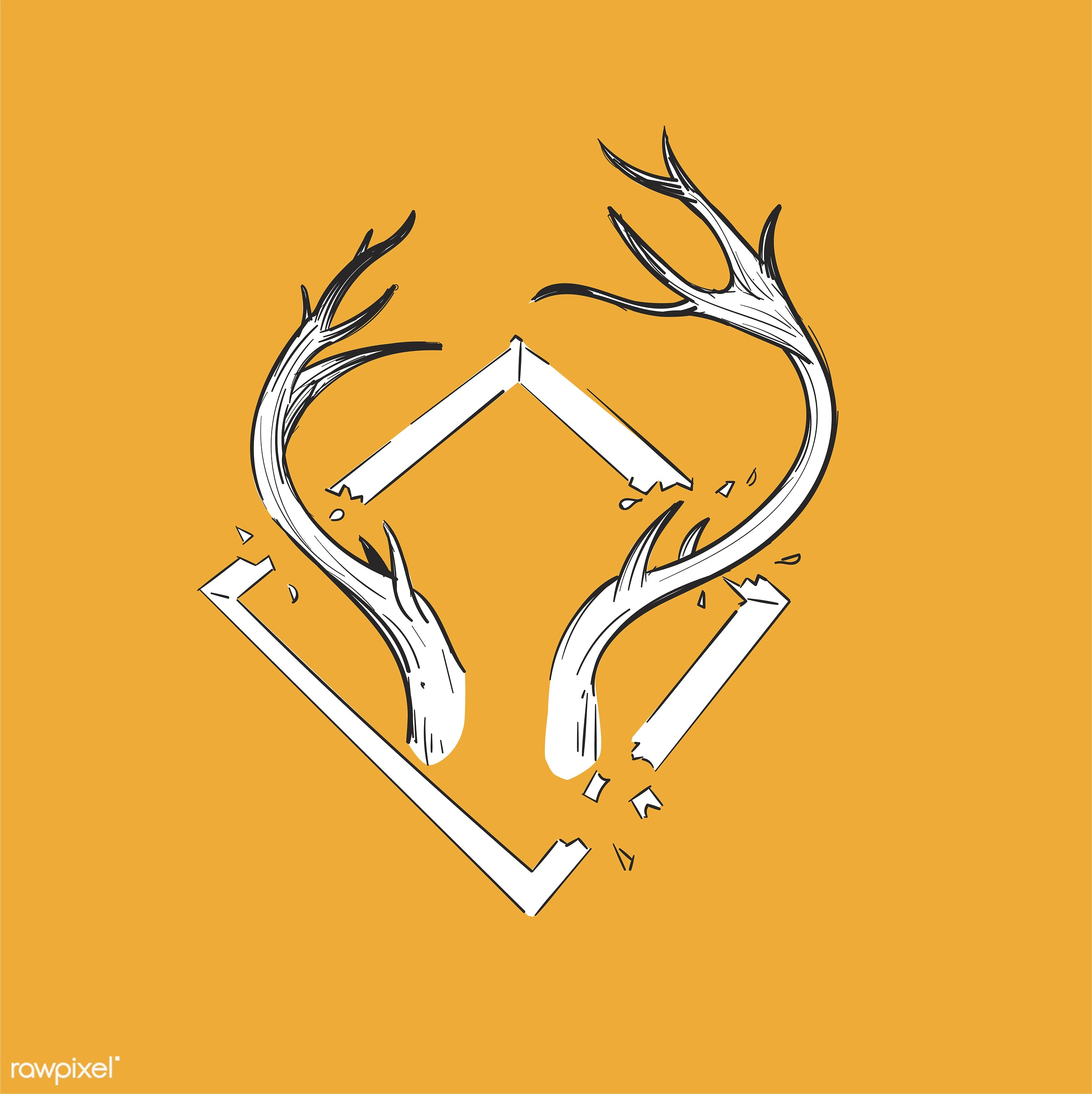 antler, artwork, creative, creativity, design, draw, drawing, drawn, equality, free, freedom, graphic, hand drawing, icon,...