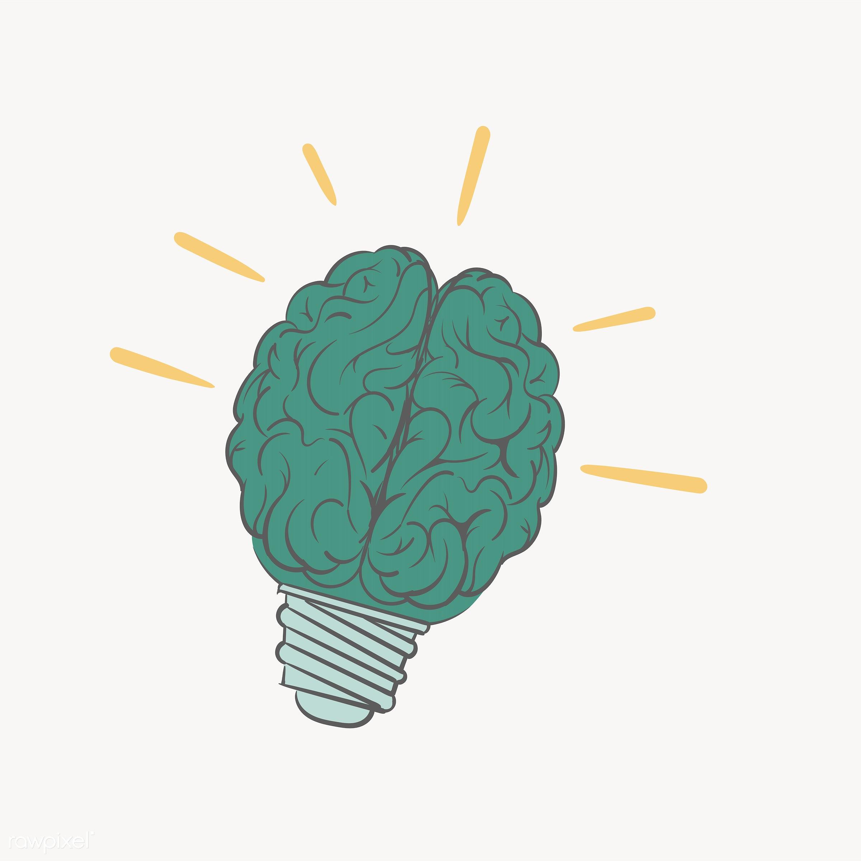 Hand drawing illustration of creative ideas concept - brain, innovation, artwork, attitude, brainstorm, creative, design,...